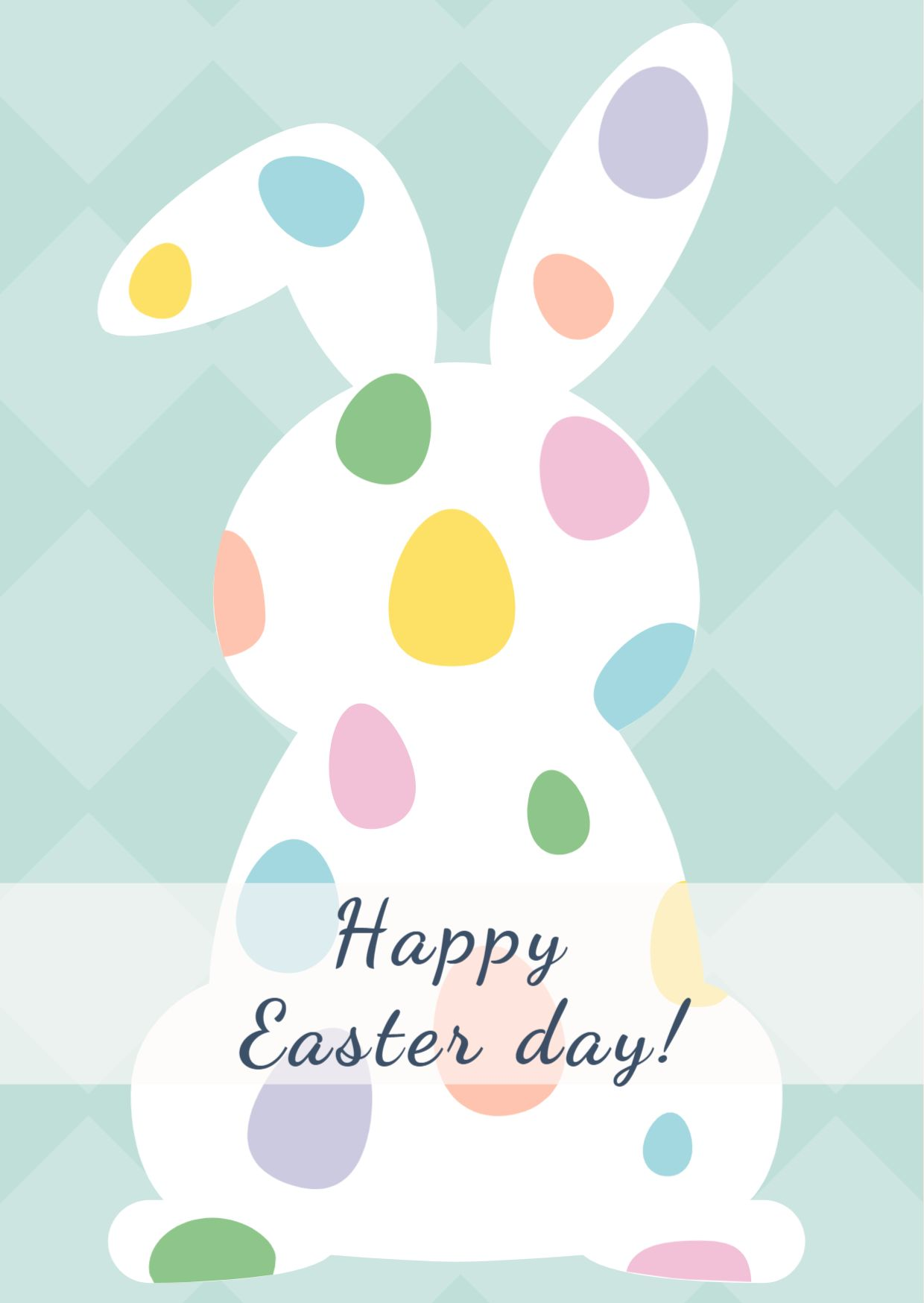 Easter Day Celebration Greetings Card