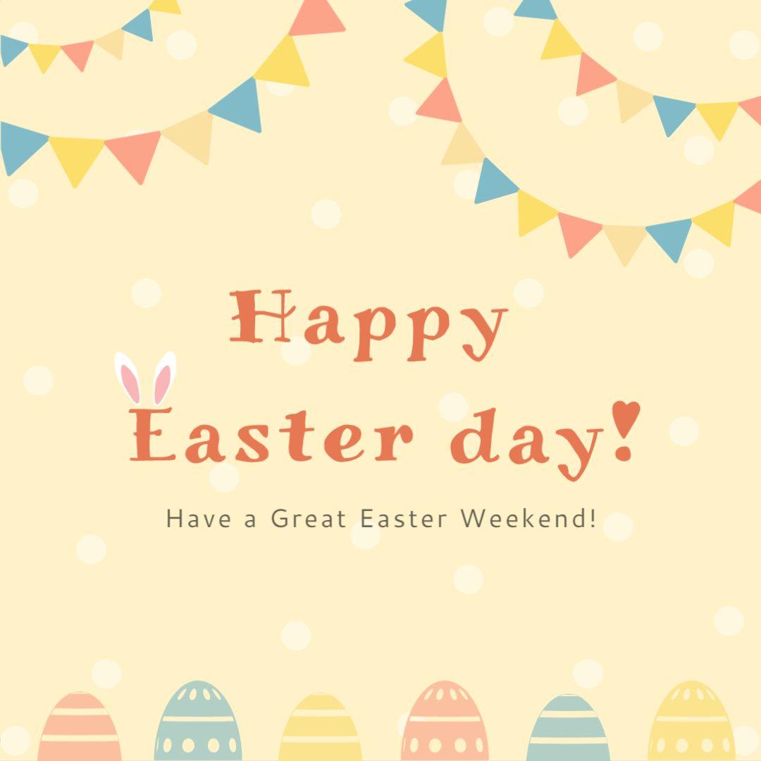 Happy Easter Greetings Template
