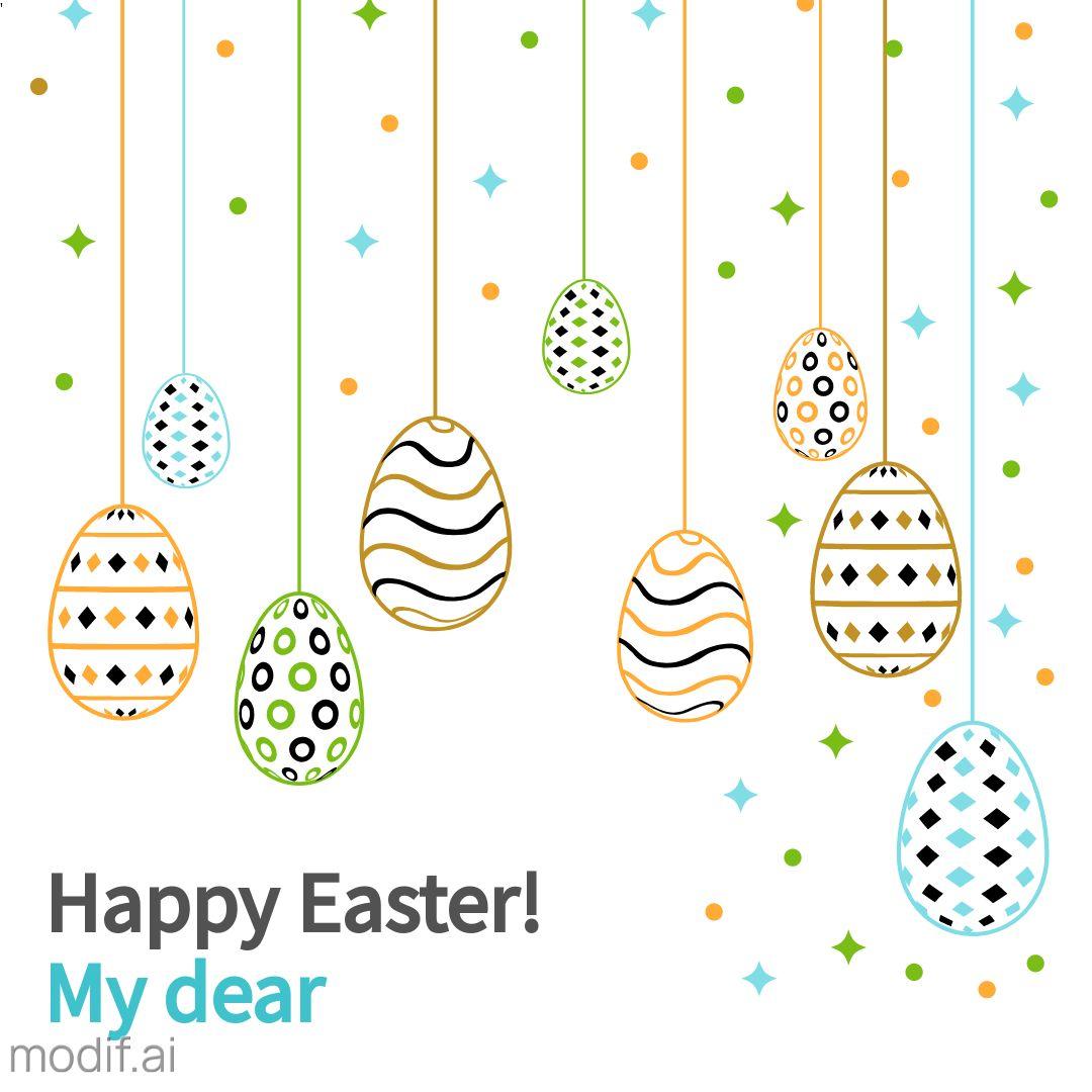 Happy Easter Instagram Post Easter Eggs