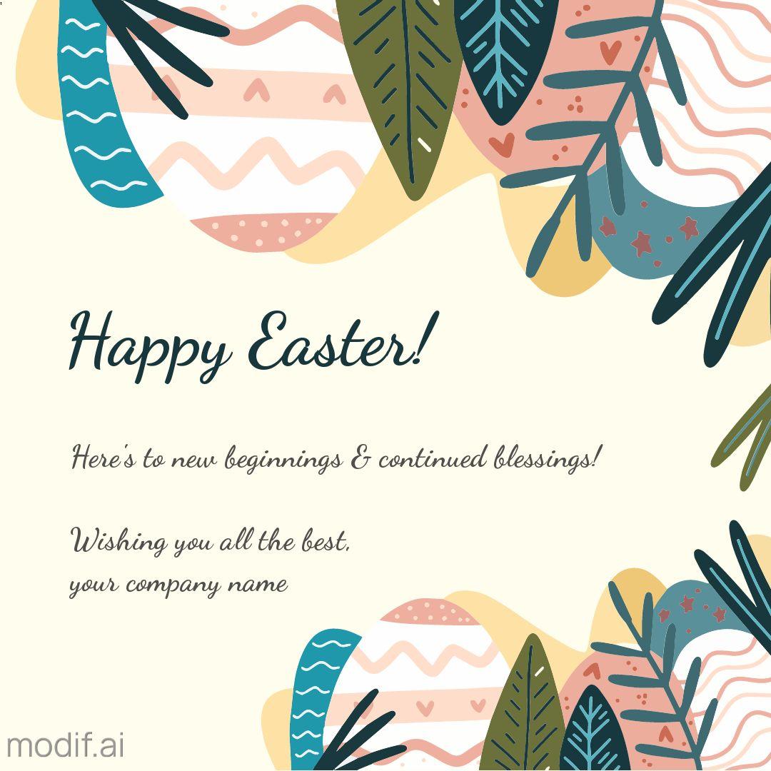 Happy Easter Instagram Post