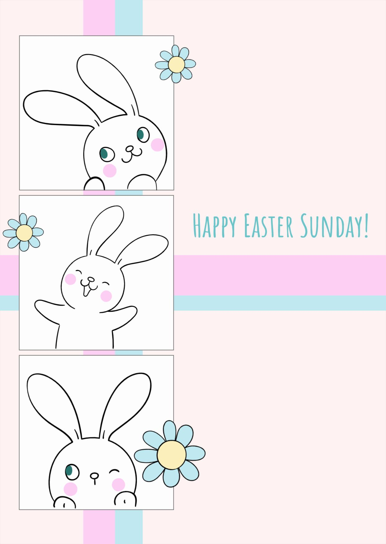 Happy Easter Sunday Template