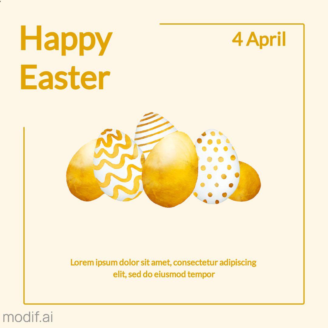 Minimal Easter Instagram Template