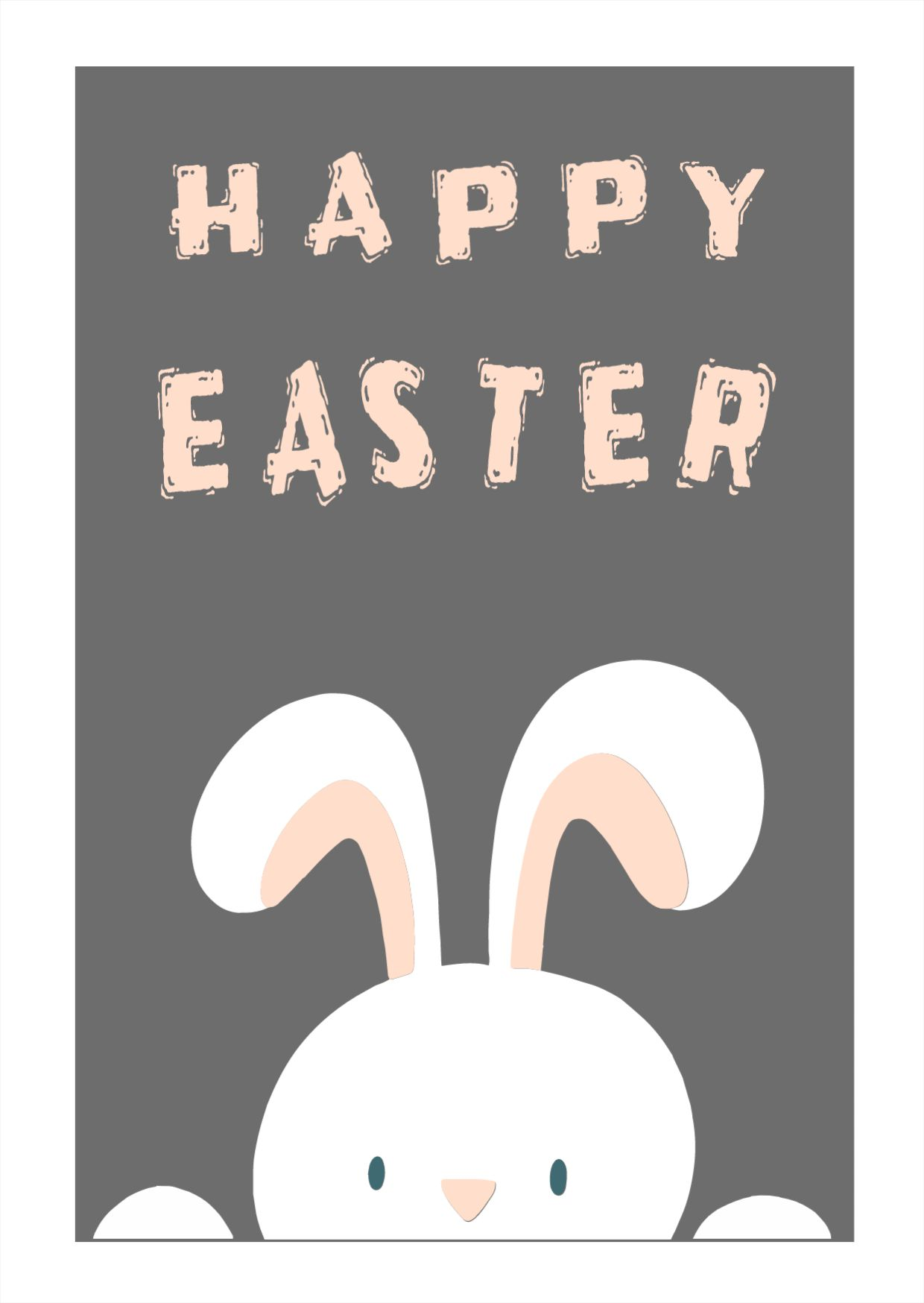 Happy Easter Celebration Greetings Card