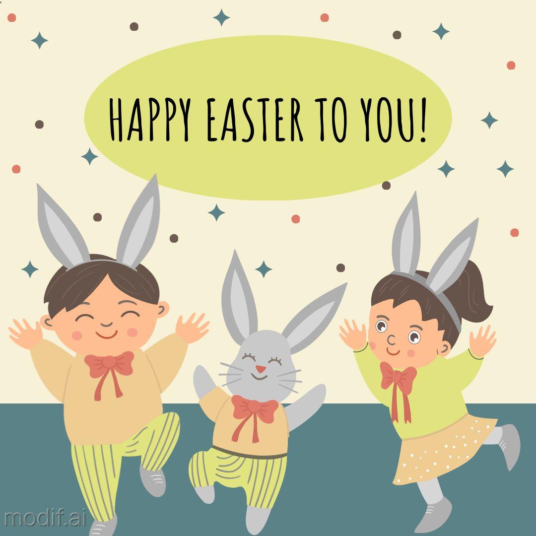 Cute Happy Easter Instagram Template