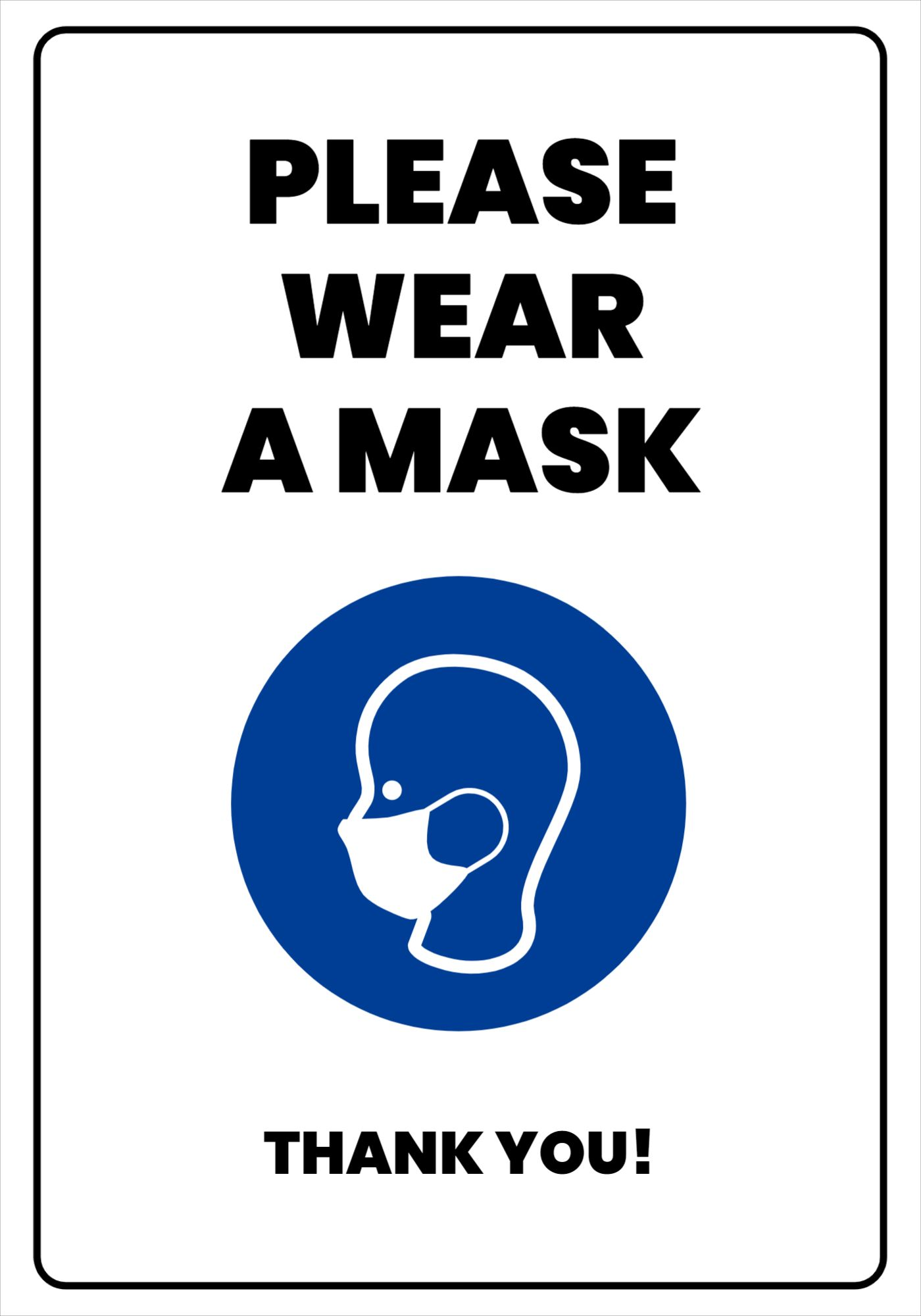 Wear a Mask Sign Template