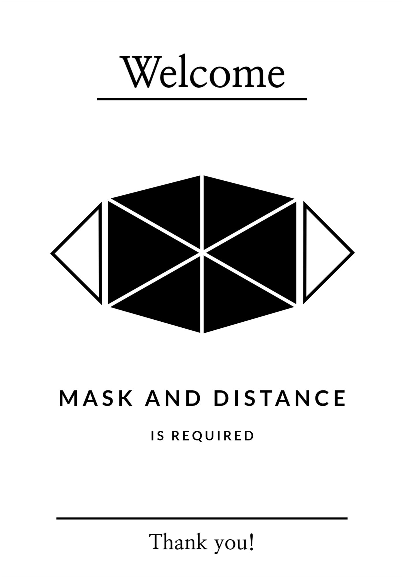 Solid and Polygon Mask Covid Poster Template