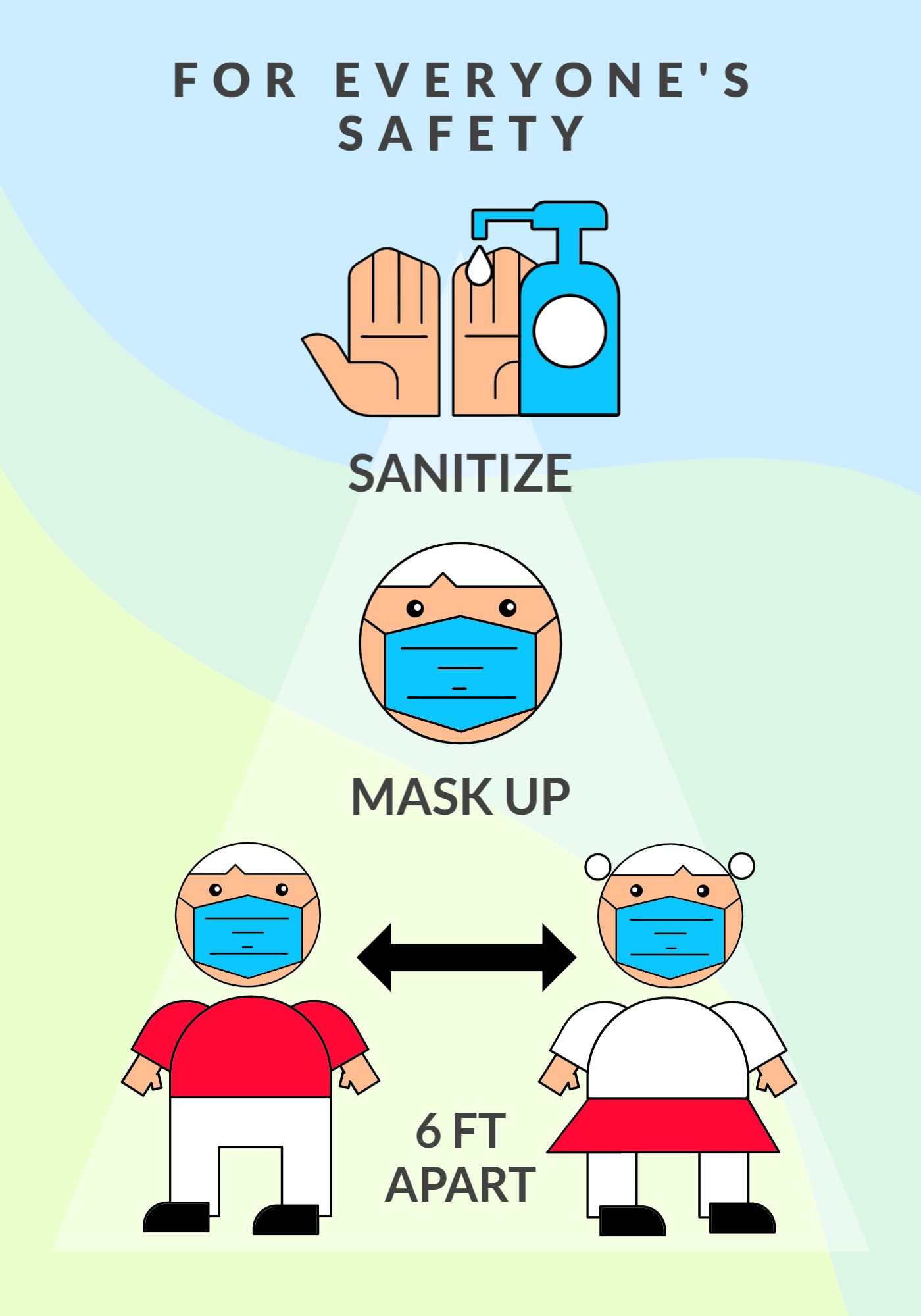 Sanitize Instructions Covid Poster Template