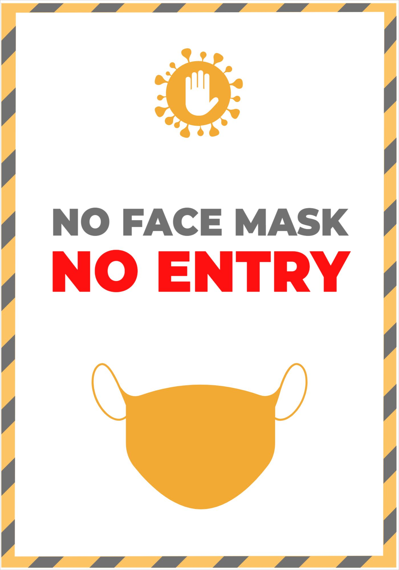No Mask No Entry Poster Template