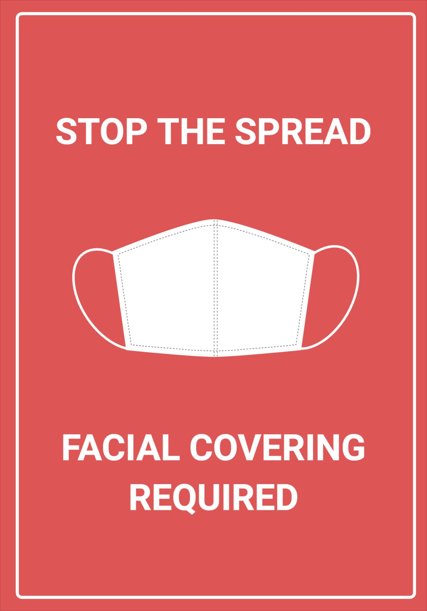 Poster Template for Stop the Spread Covid
