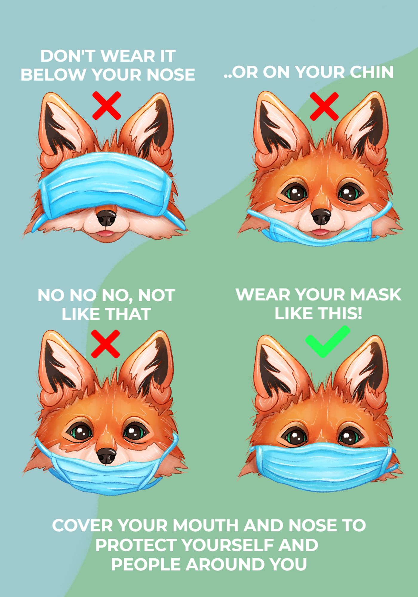 Mask Awareness Covid Poster Template
