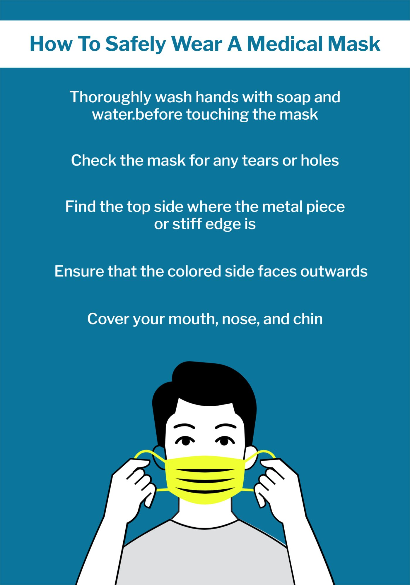 Medical Mask Poster Template
