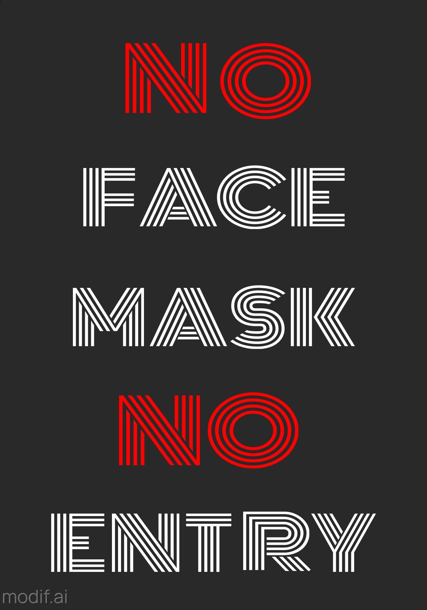 Poster No Mask No Entry