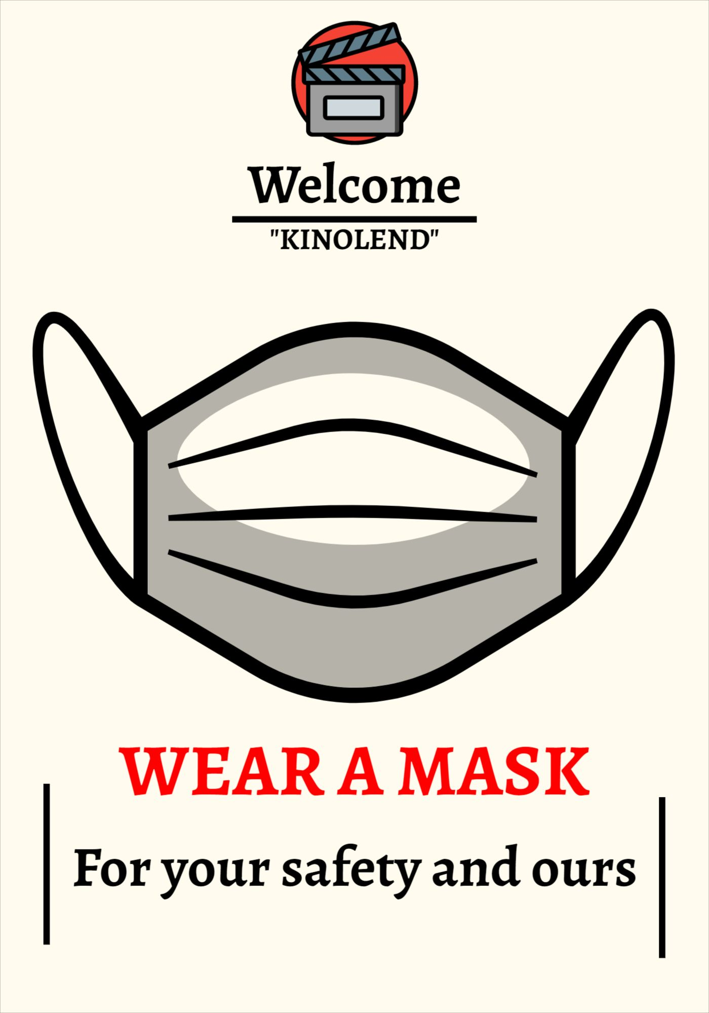 Wear Mask Poster Template