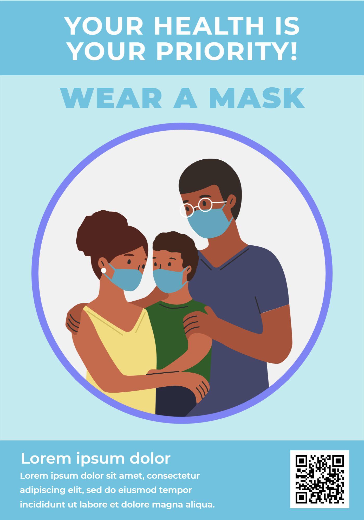 Mask Awareness Poster Template