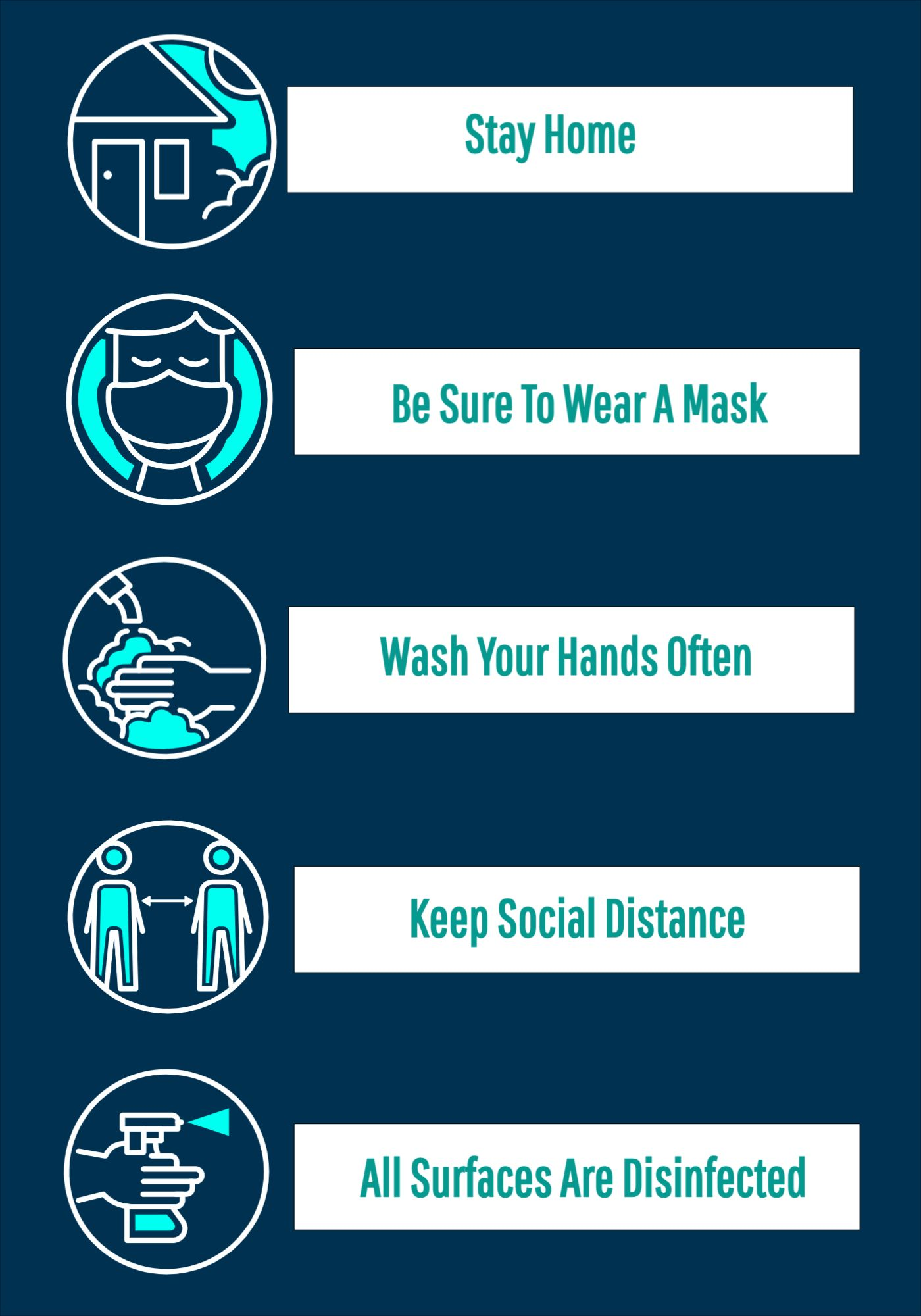Covid Security Measures Poster Template
