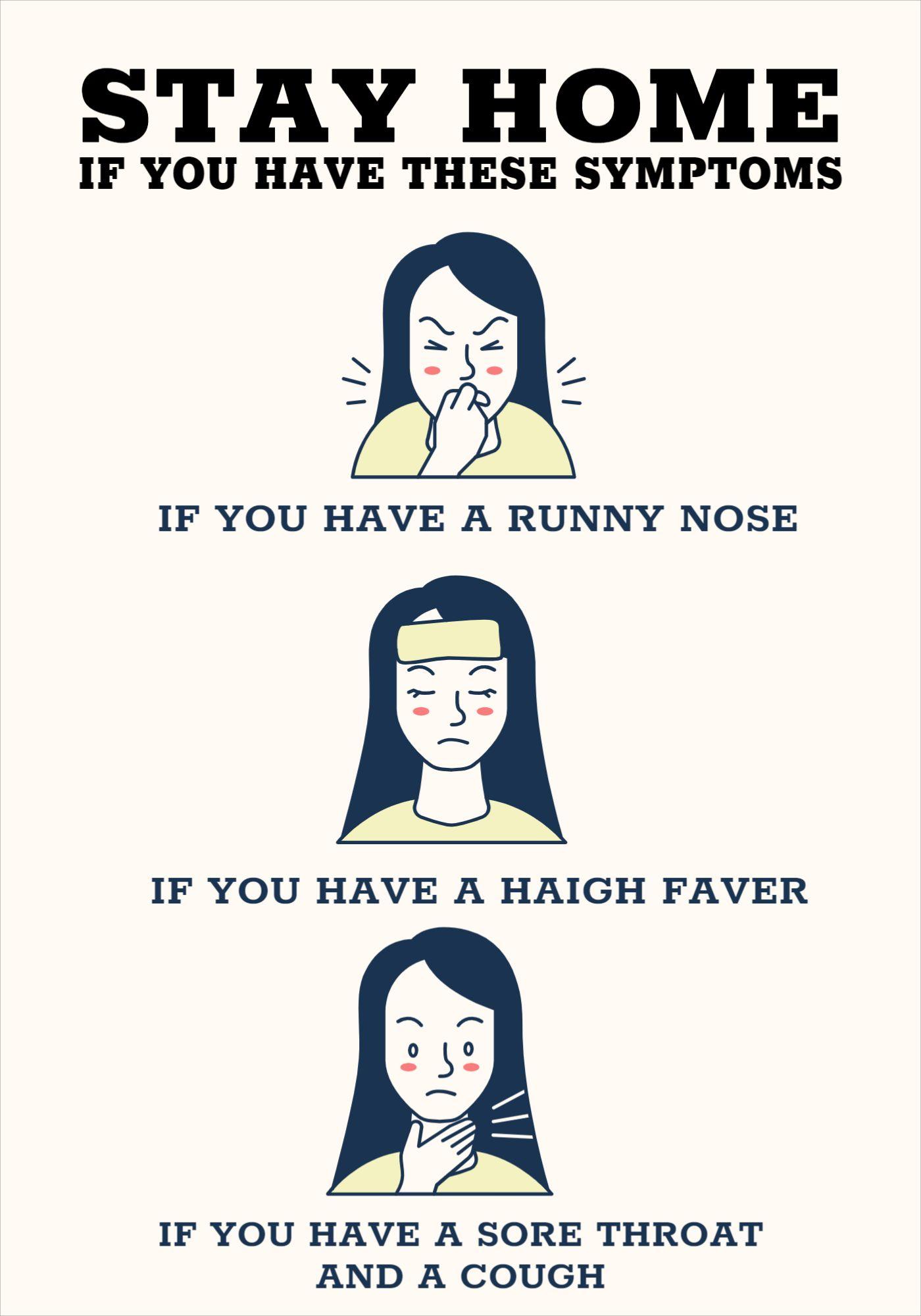 Poster Symptoms Covid-19 Template