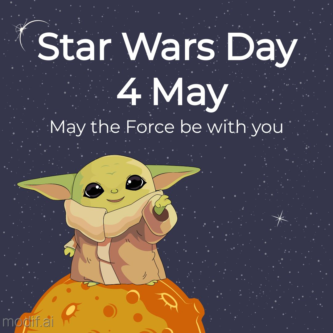 Star Wars Day template for social media in may – may the 4th be with you