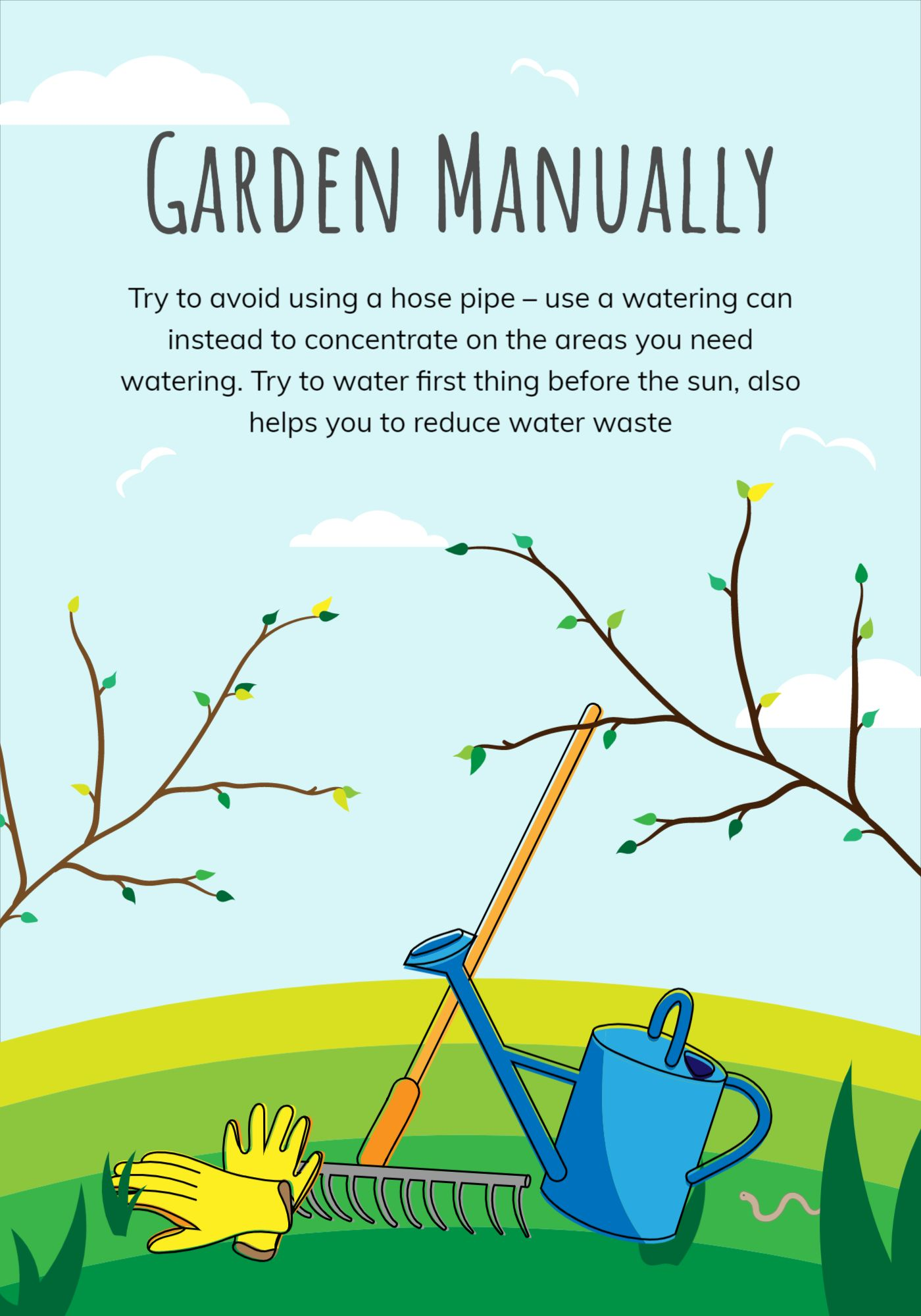 Garden Environment Poster Template