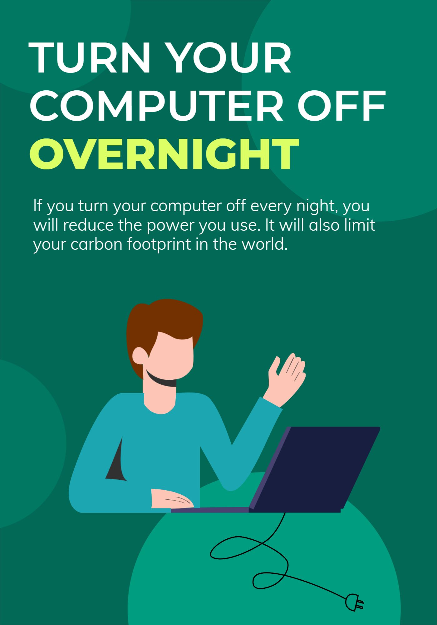 Save Energy Poster Template