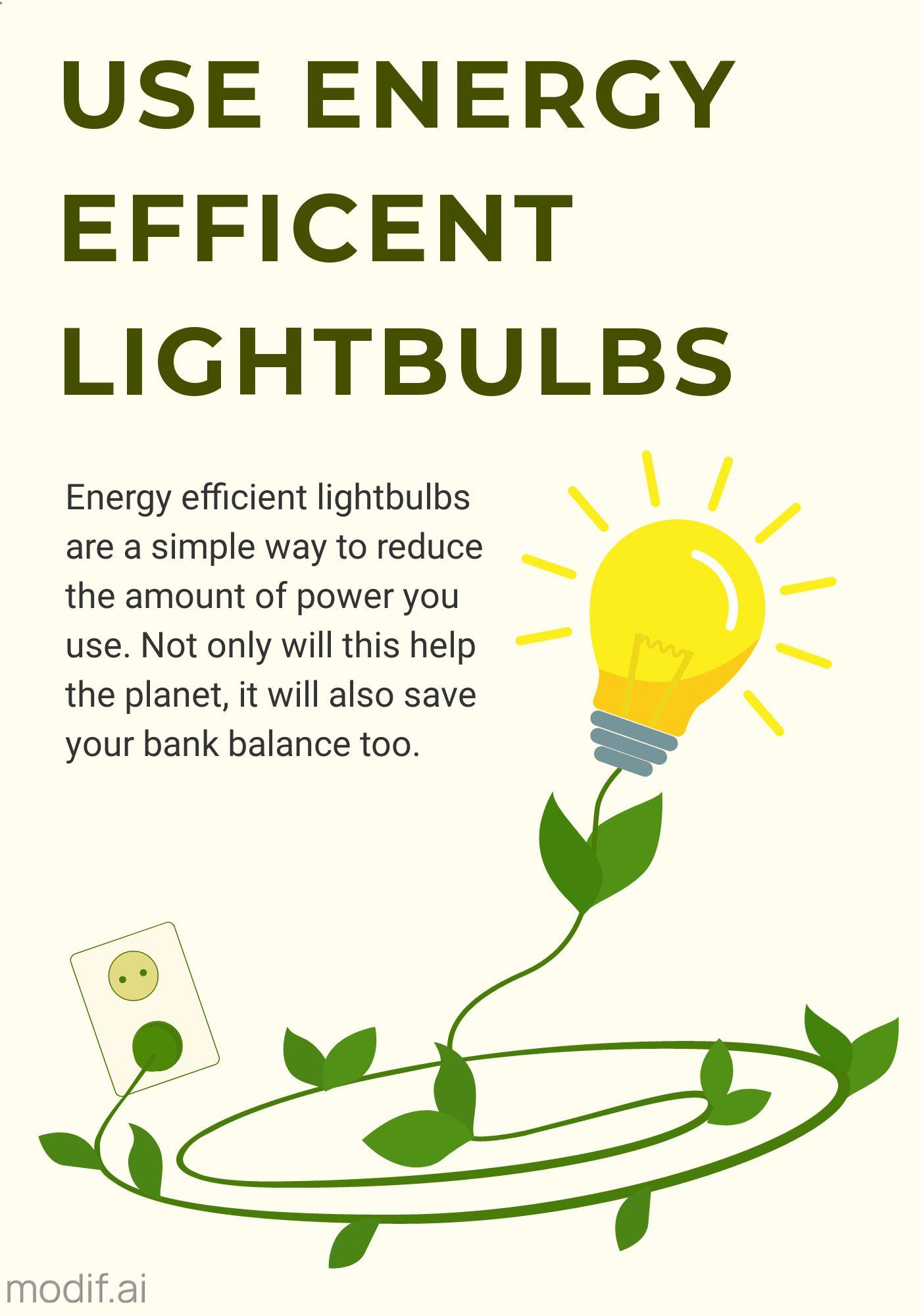 Energy Efficient Lightbulbs Poster Template