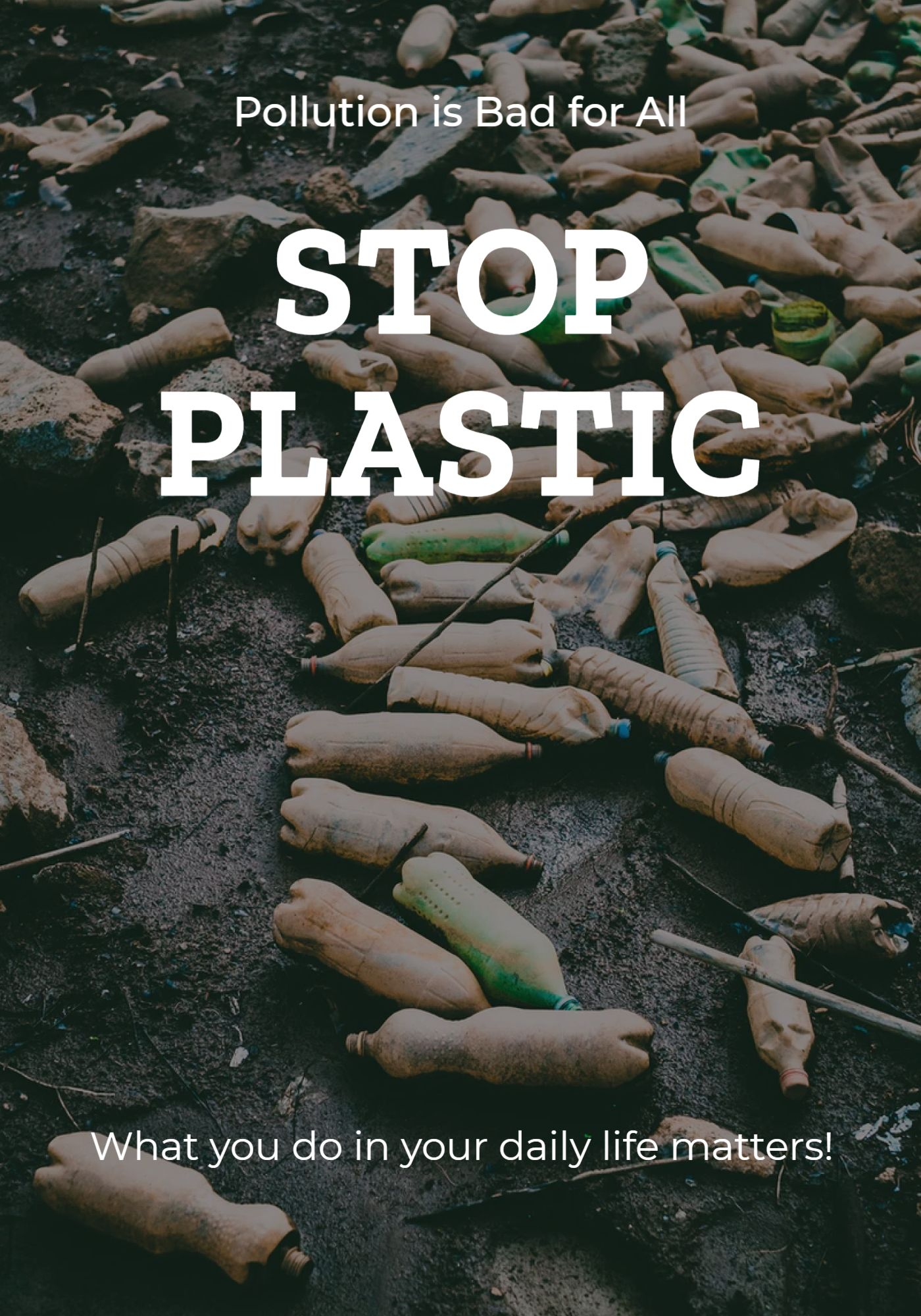 Poster Stop Plastic Template