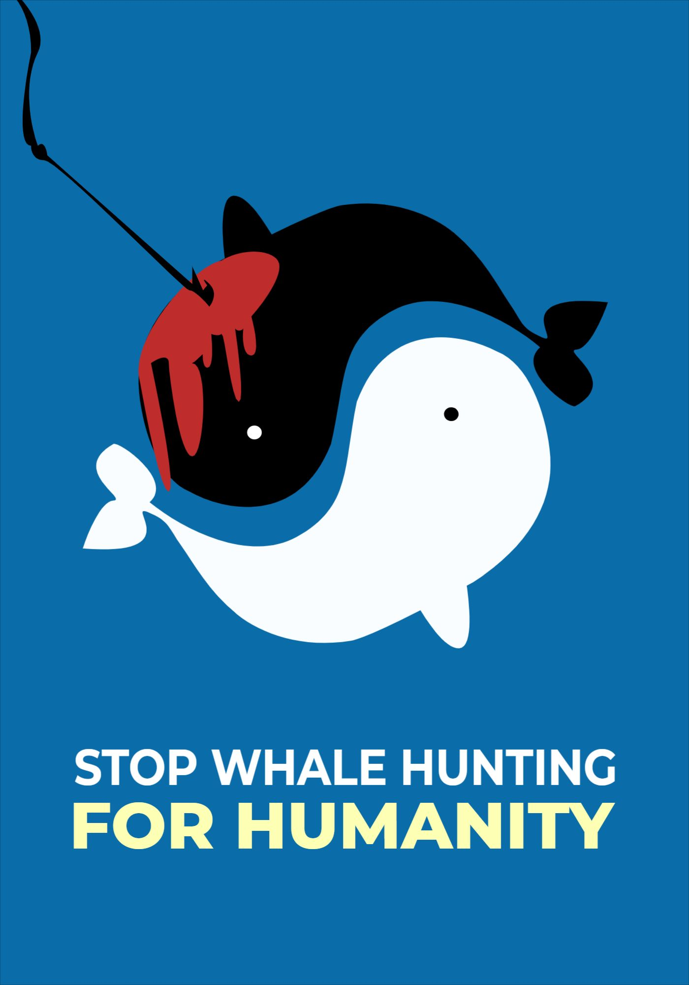 Poster Whale Hunting Template
