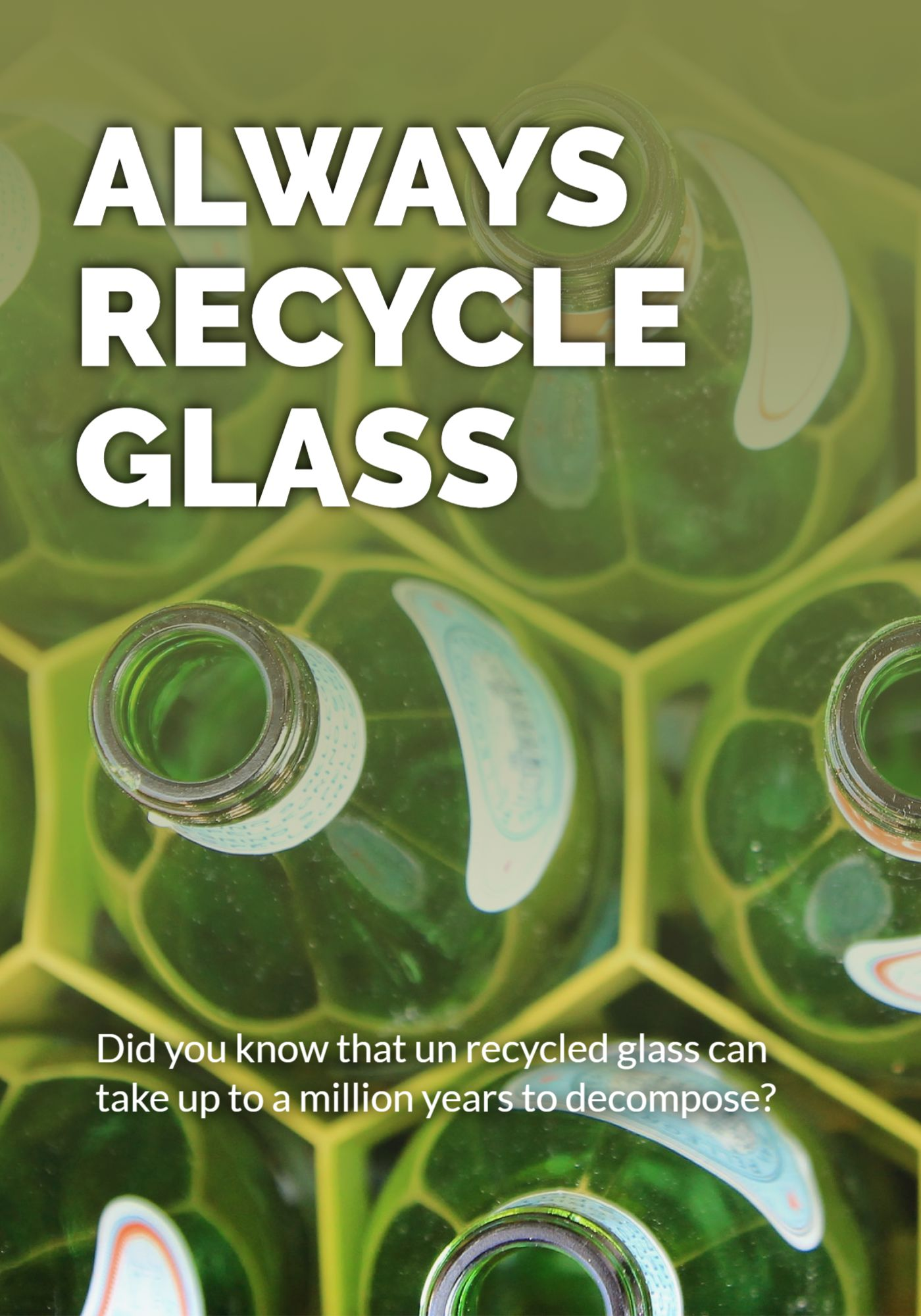 Recycle Glass Poster Template