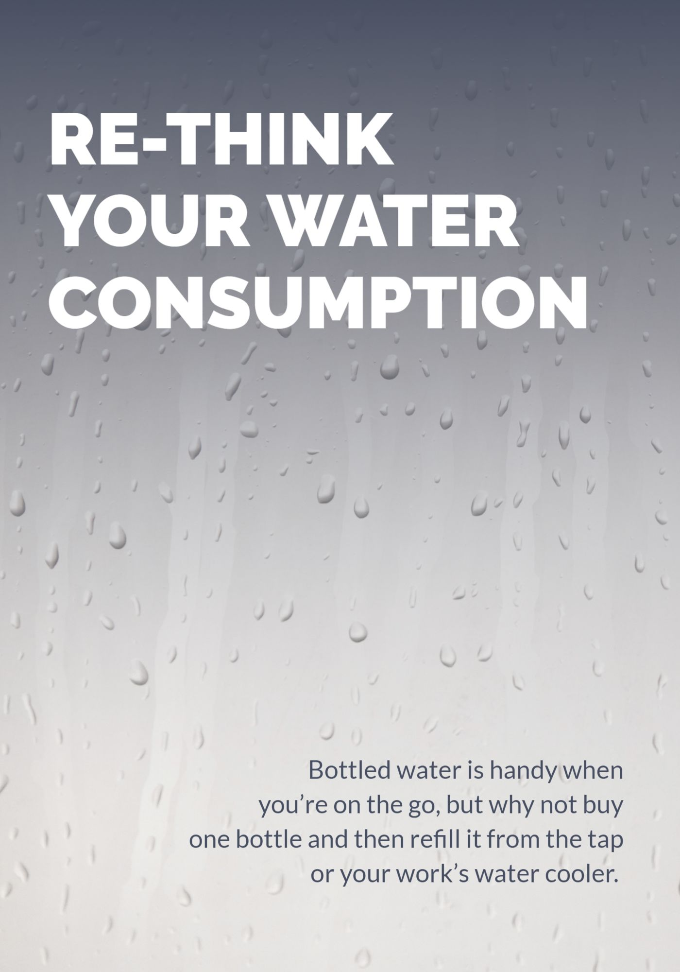 Water Consumption Poster Template