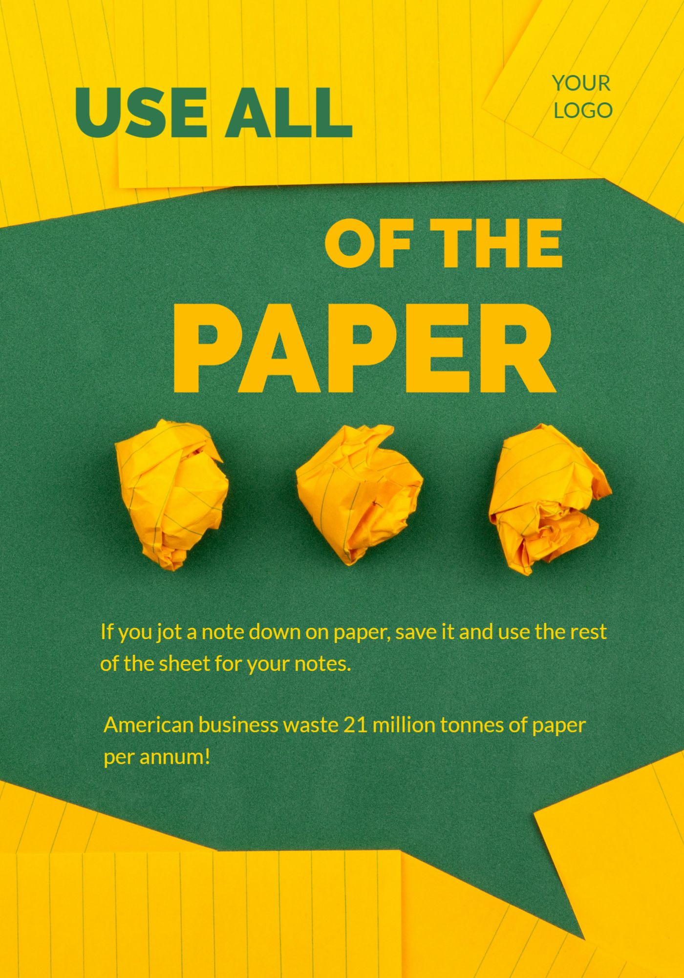 Paper Waste Poster Template