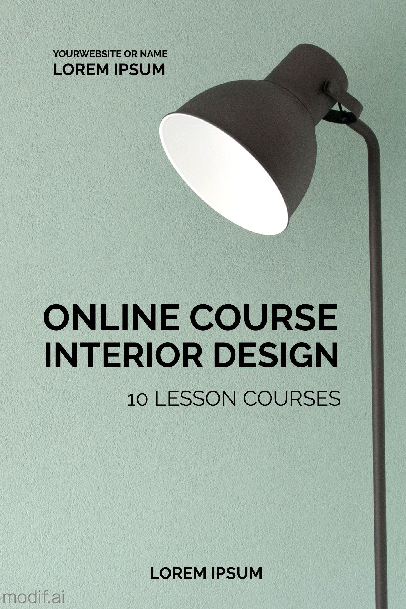 Interior Design Online Course Template