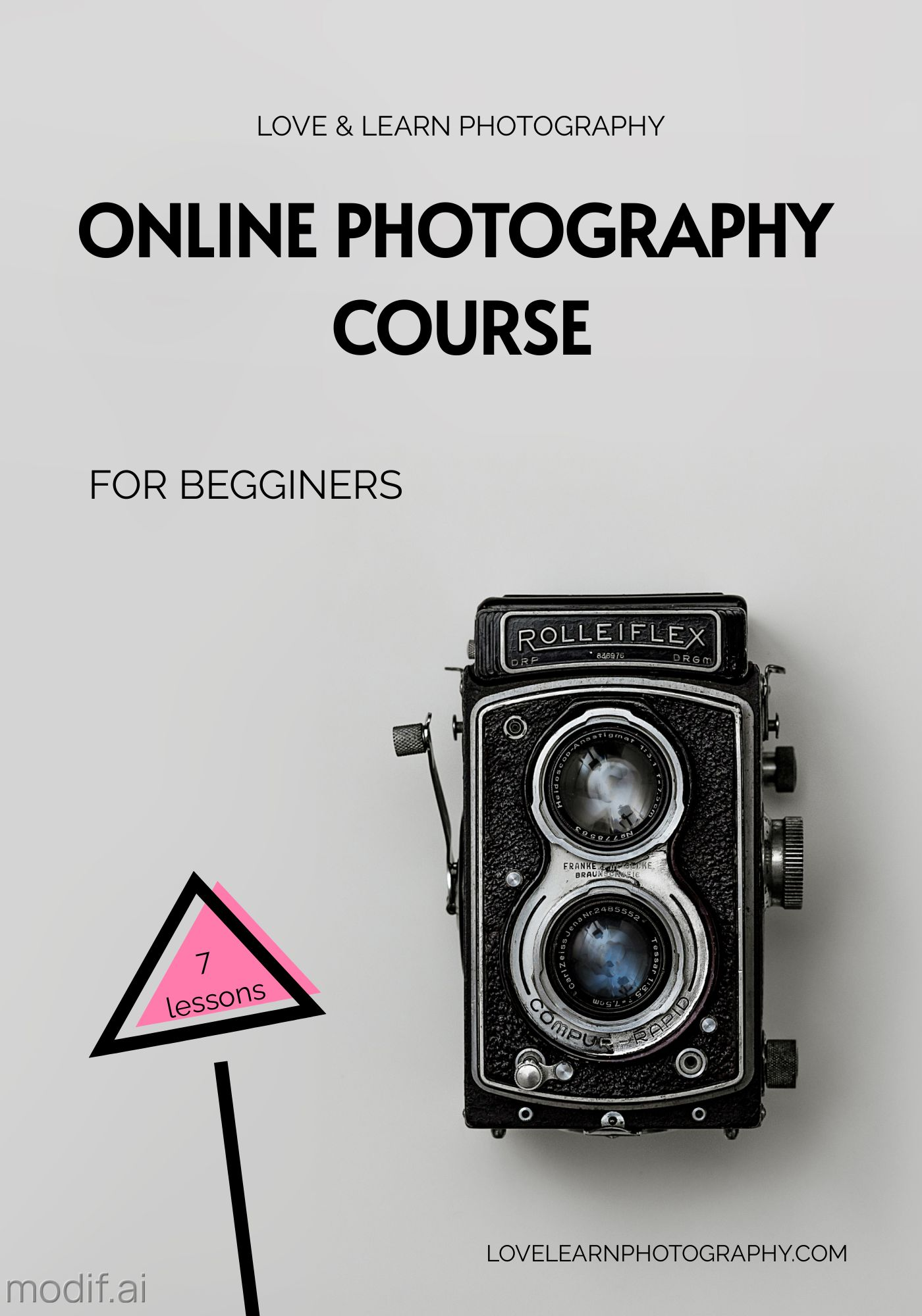 Online Course Photography Template