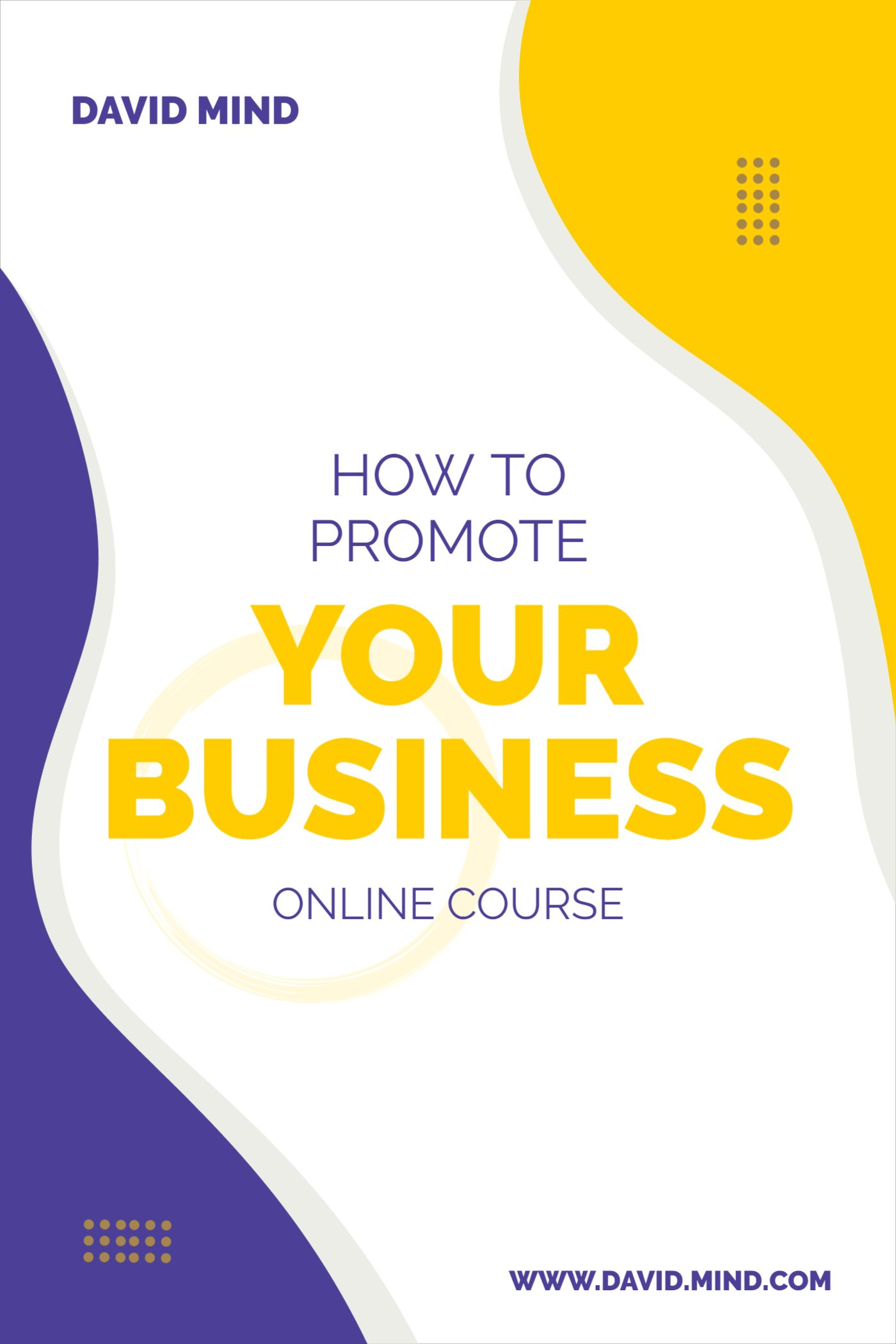 Business Online Course Template