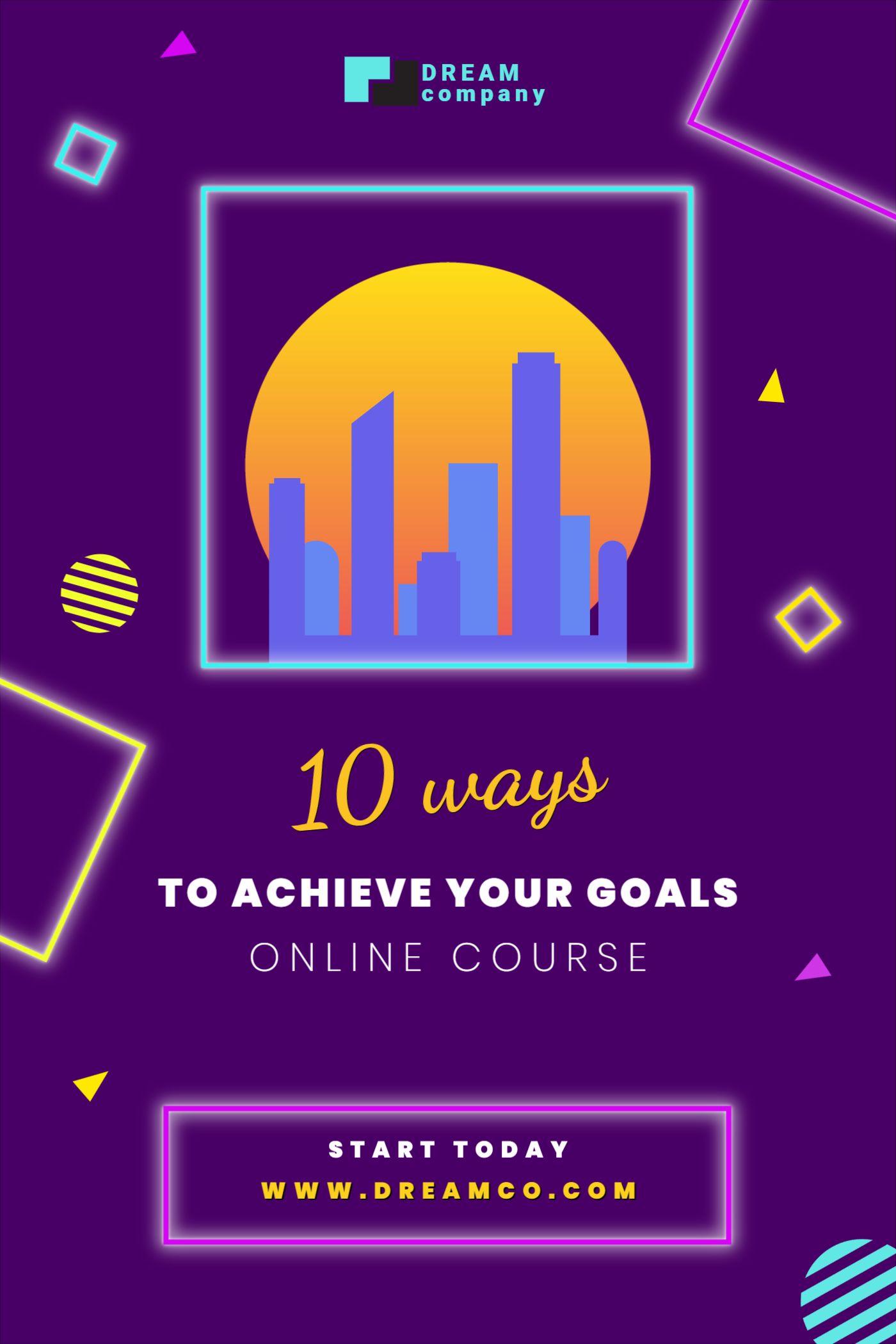 Goal achievement Online Courses Template