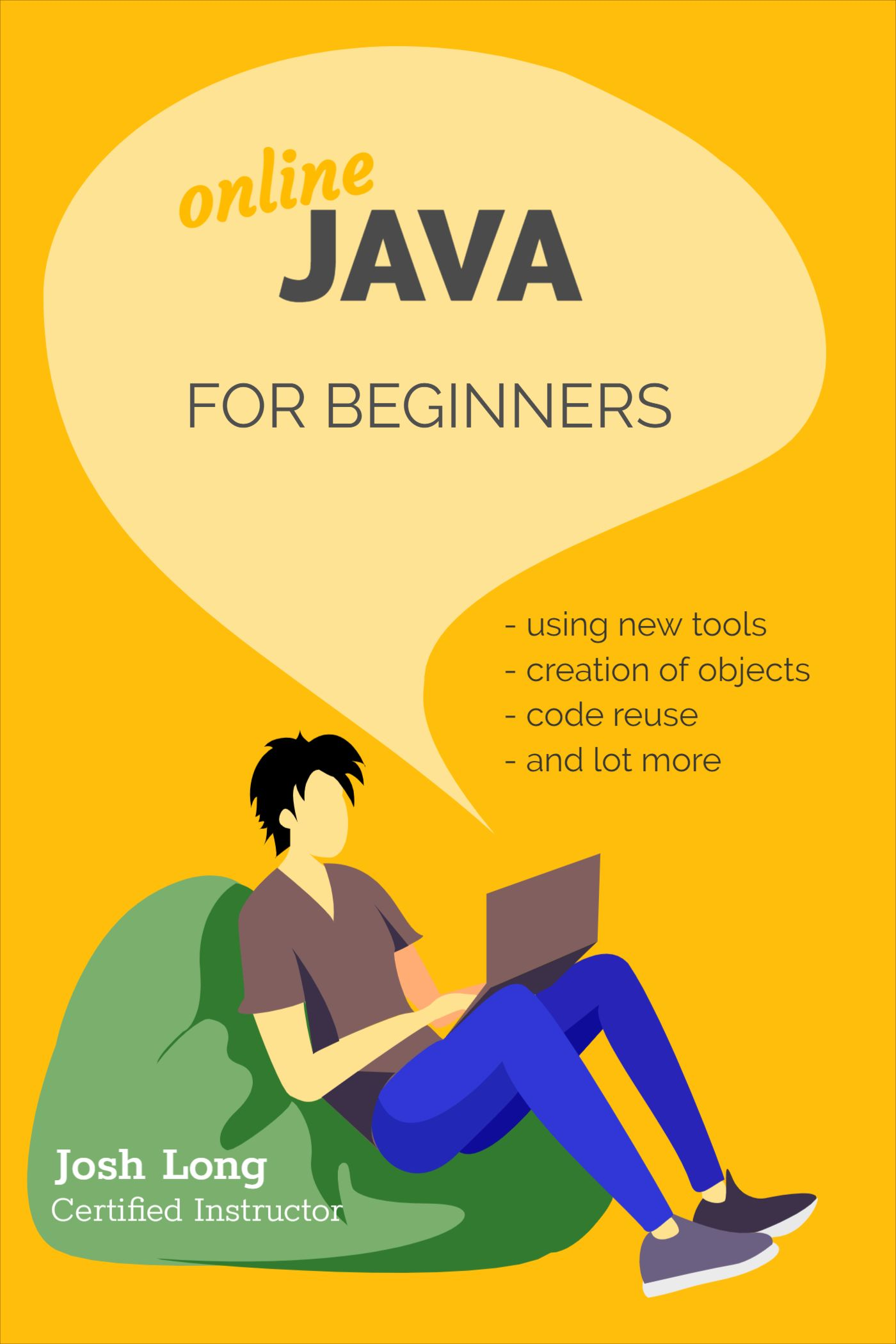 Java Programming Online Course Book Cover Template