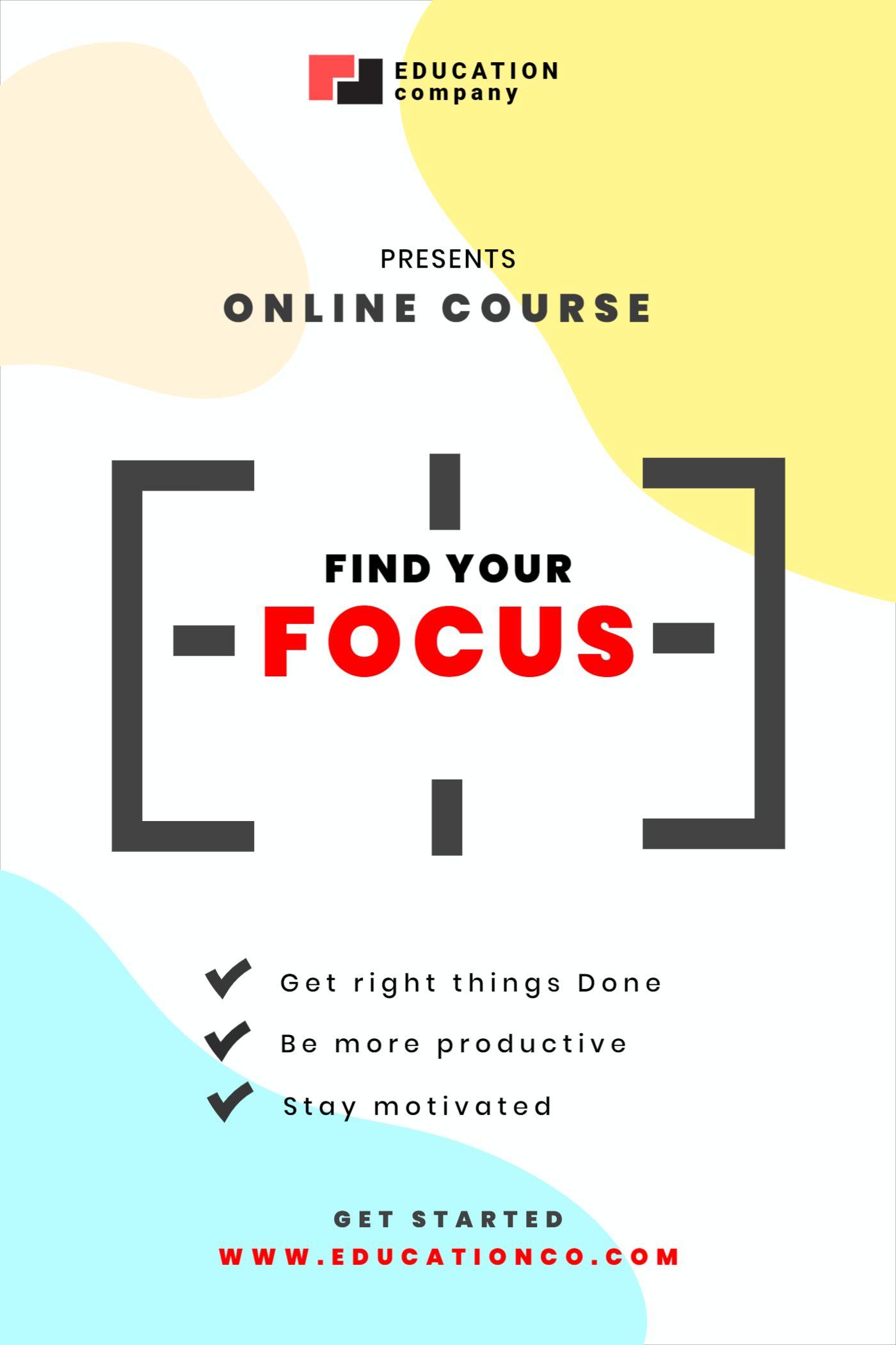 Focus Online Courses Template
