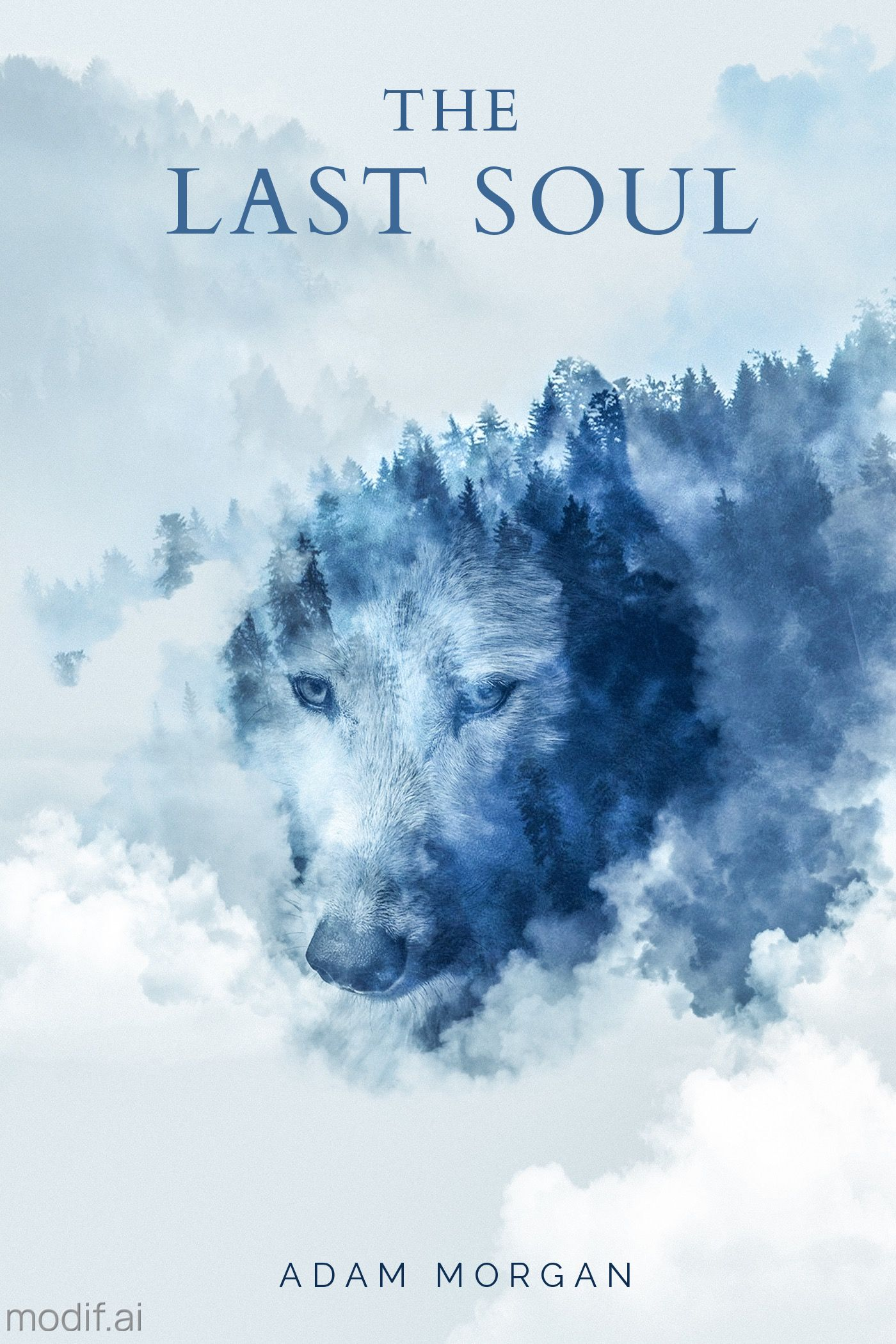 Foggy Wolf Book Cover Template