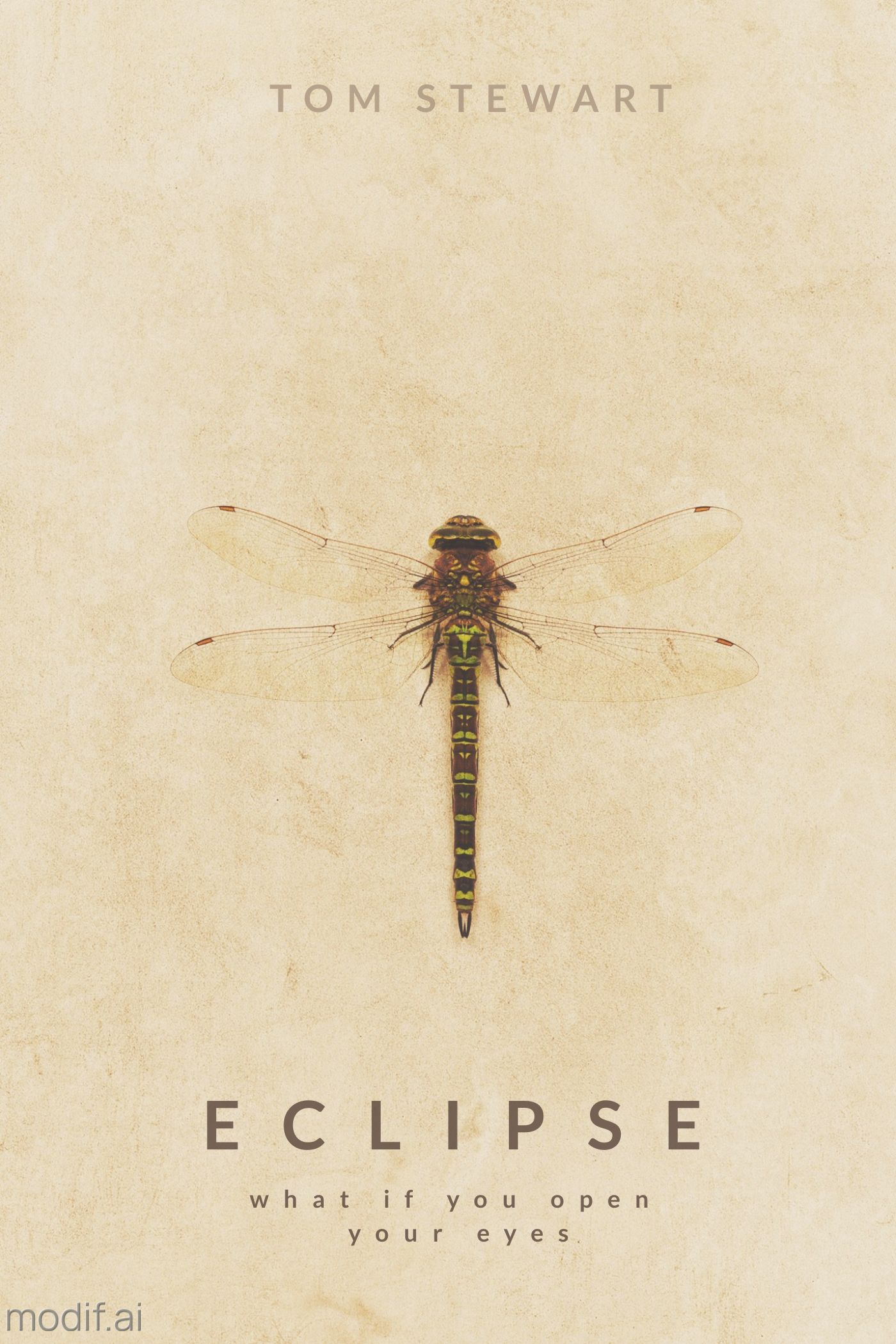 Dragonfly Book Cover Template