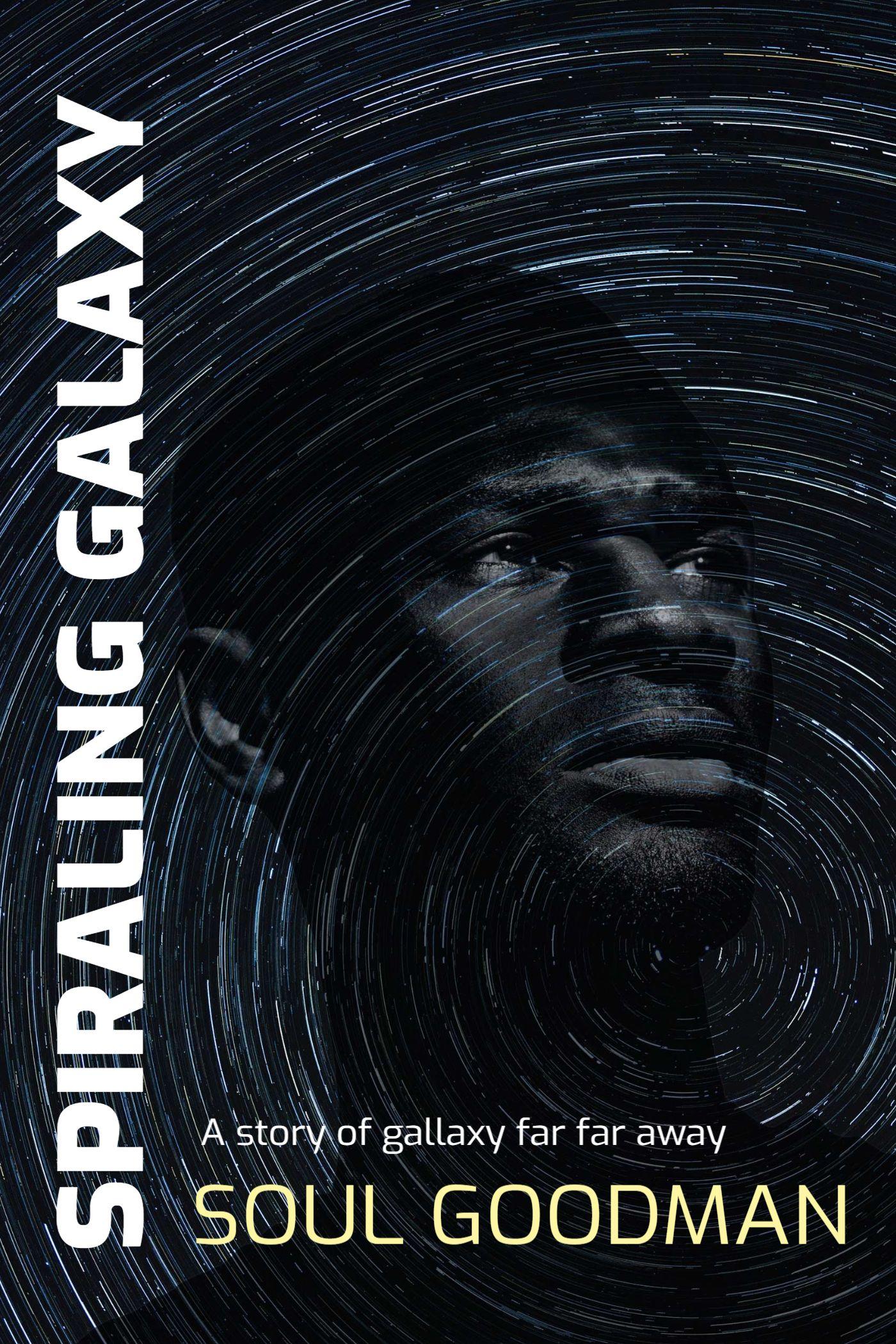 Spiraling Galaxy Book Cover Template