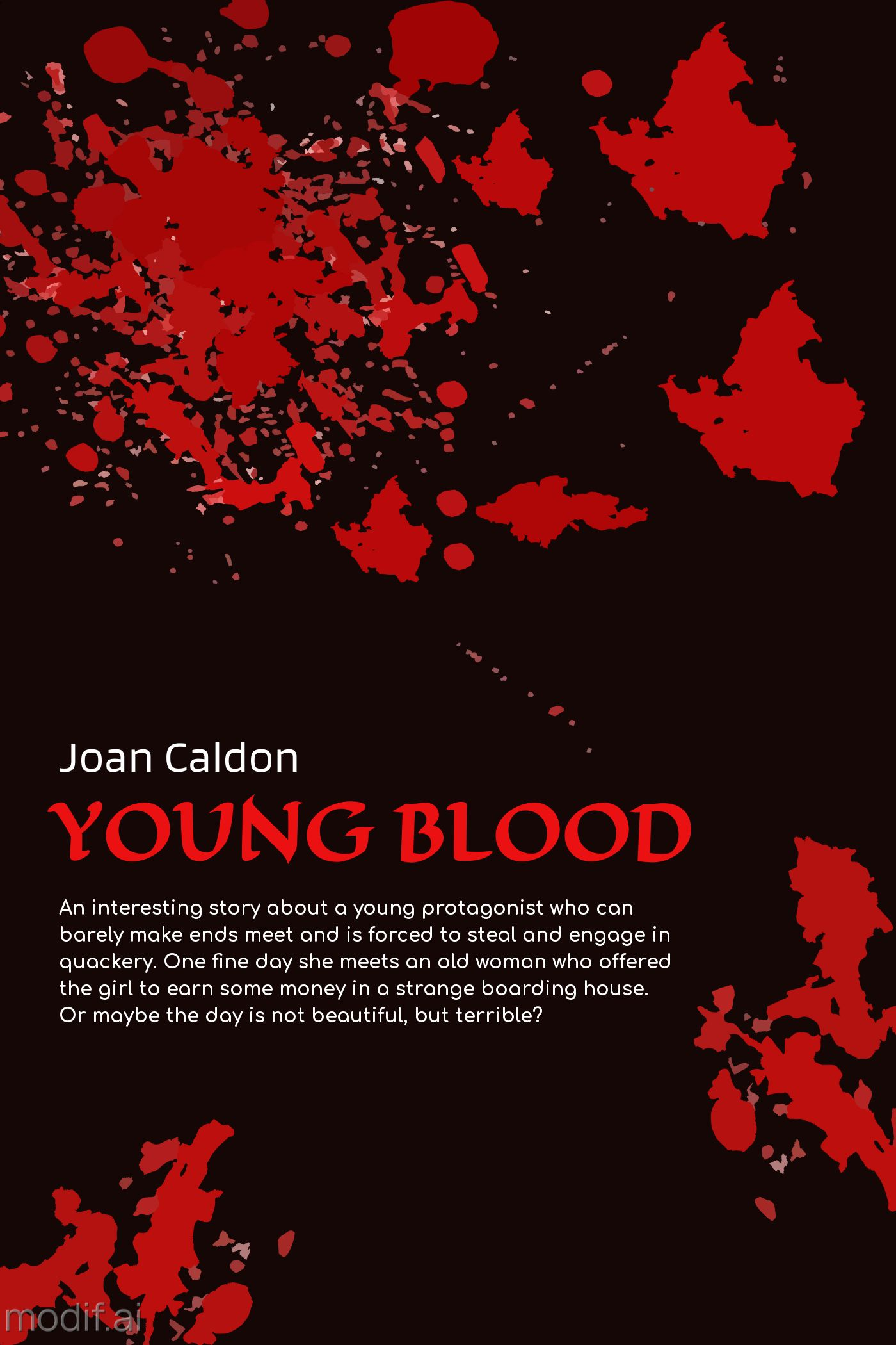 Young Blood Book Cover Template