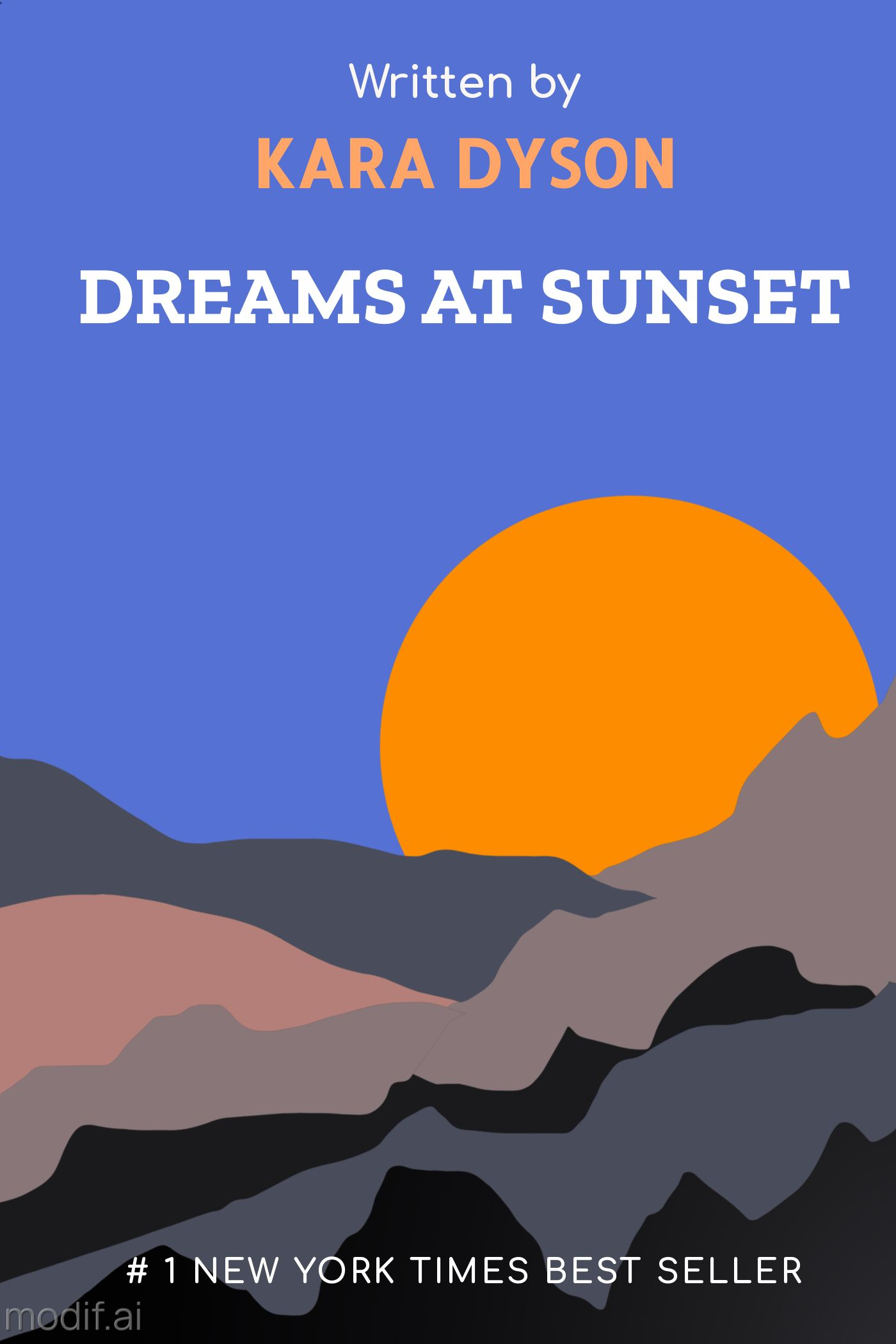Sunset Book Cover Template