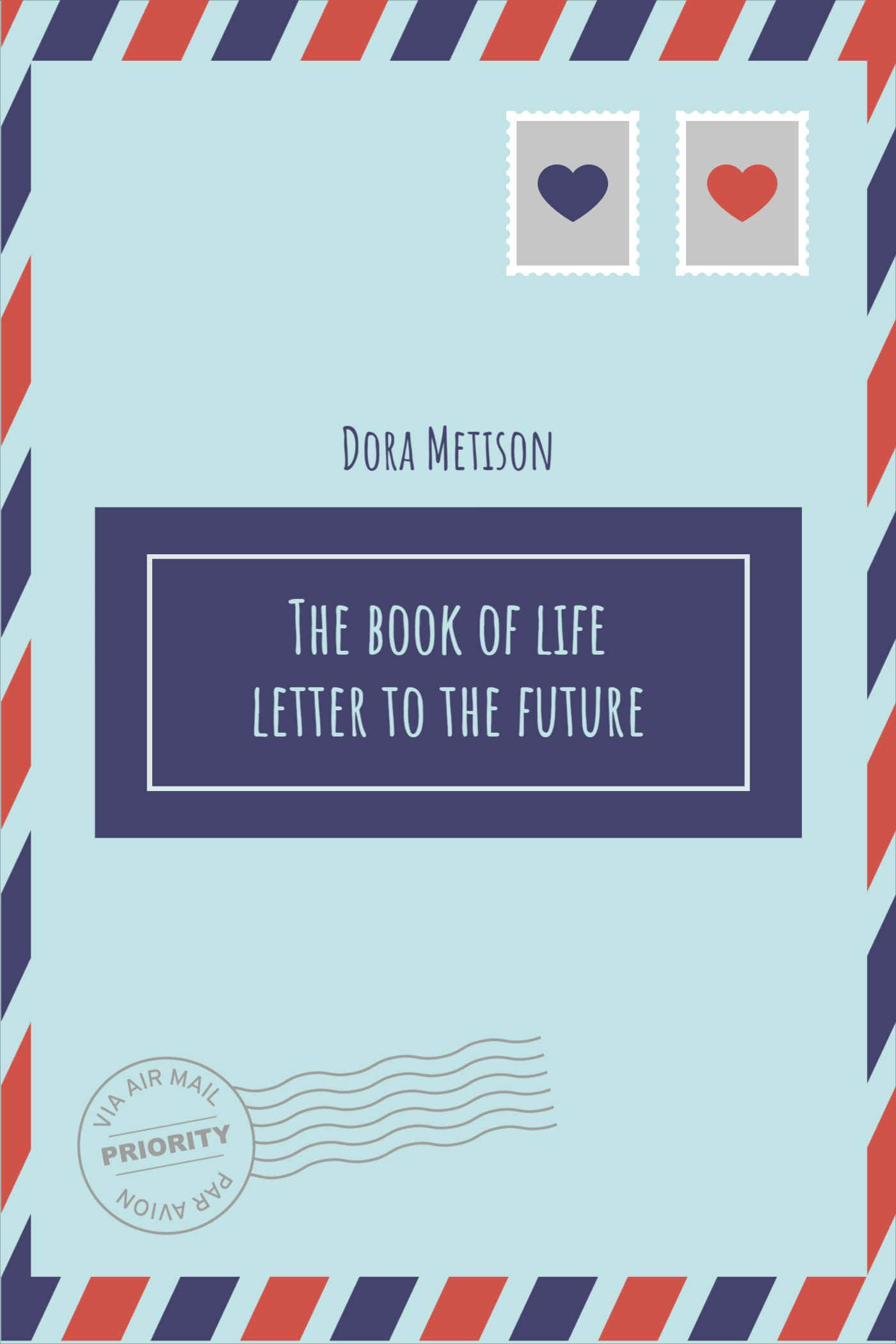 Letter Themed Book Cover Template