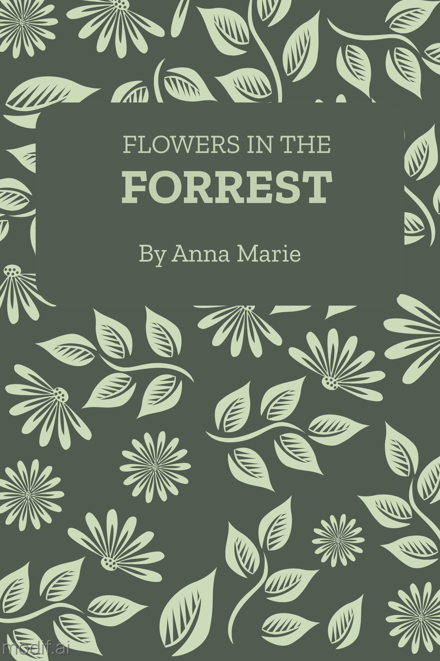 Forest Themed Book Cover Template
