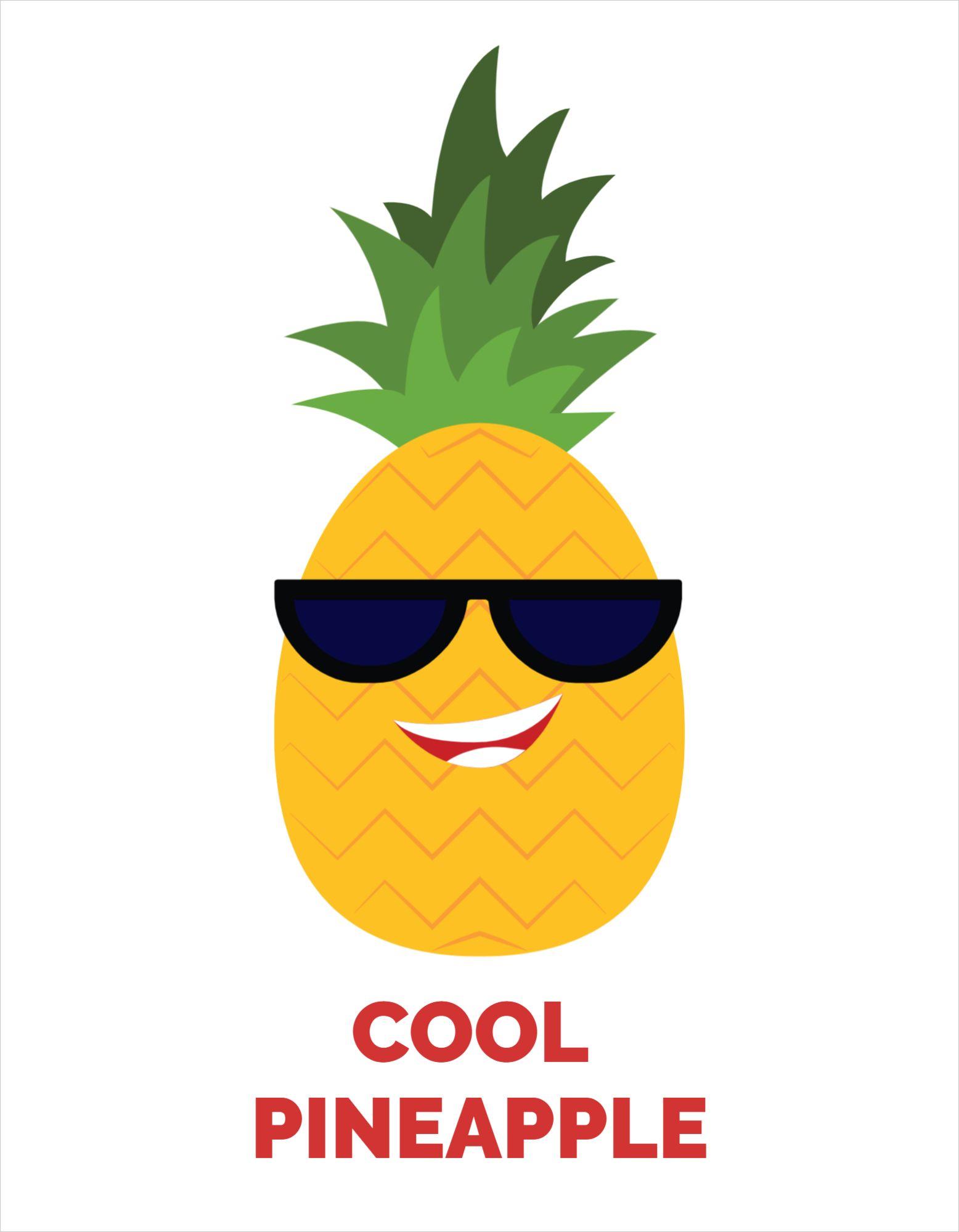 Pineapple Image T-shirt Template
