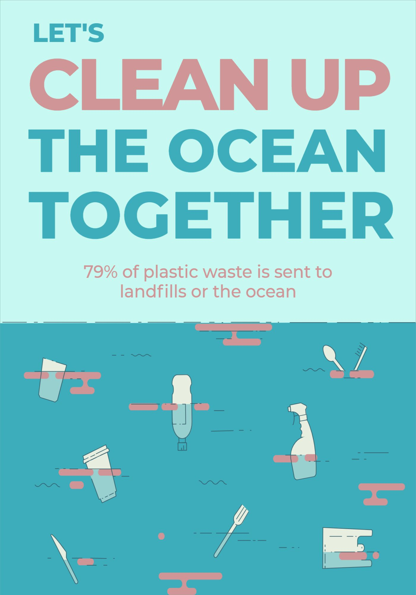 World Ocean Day Poster Template