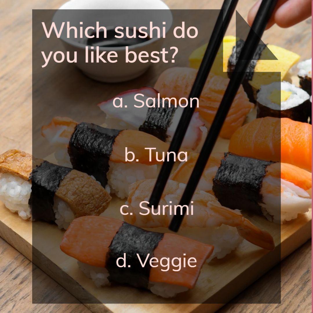 International Sushi Day poll - Instagram Template
