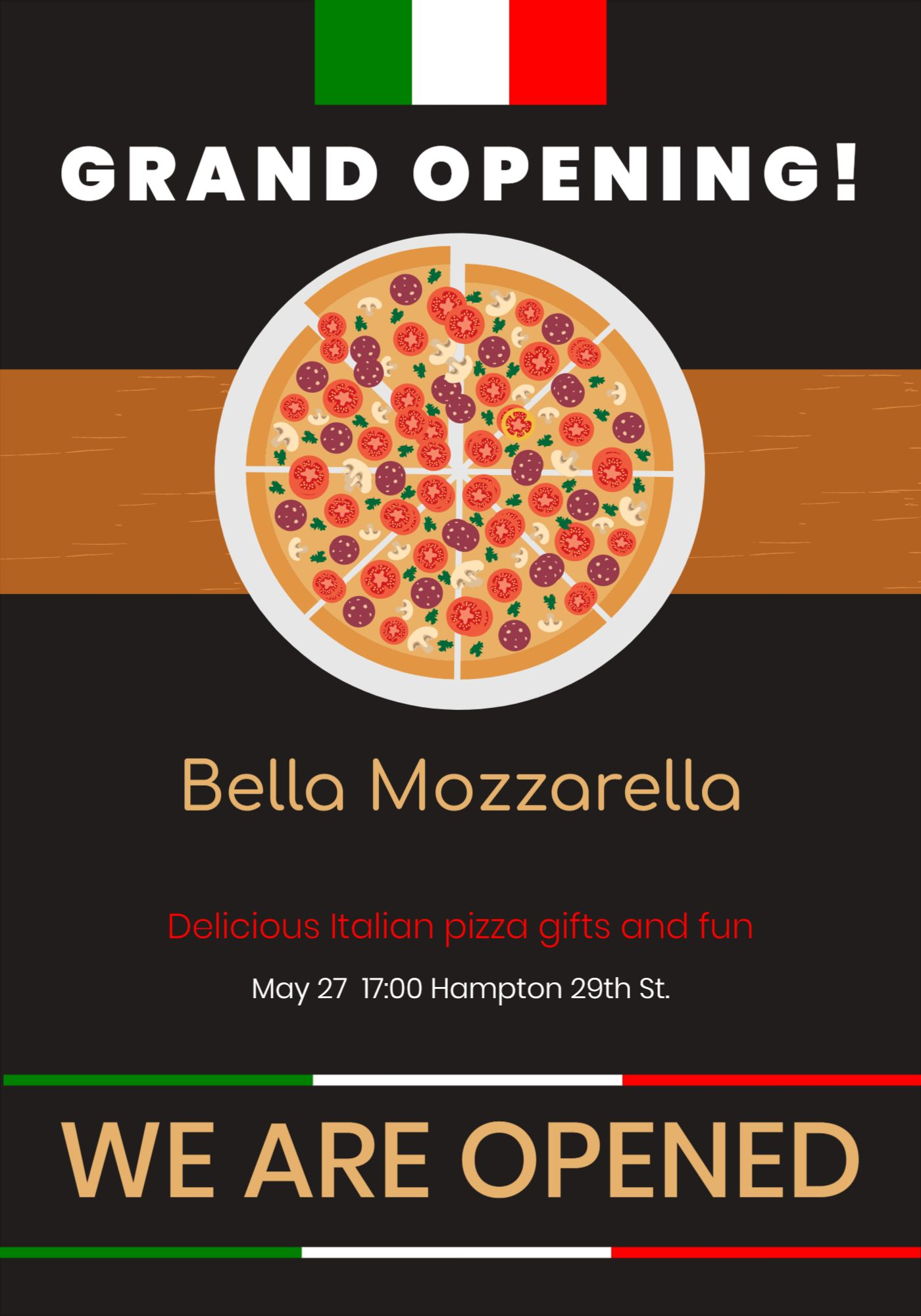Pizza Cafe Flyer Template