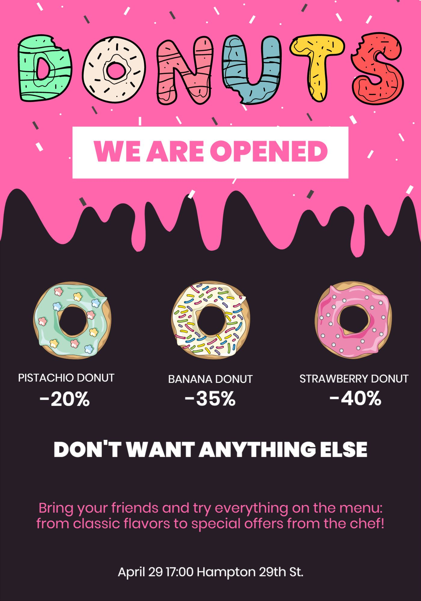 Donuts Cafe Flyer Template