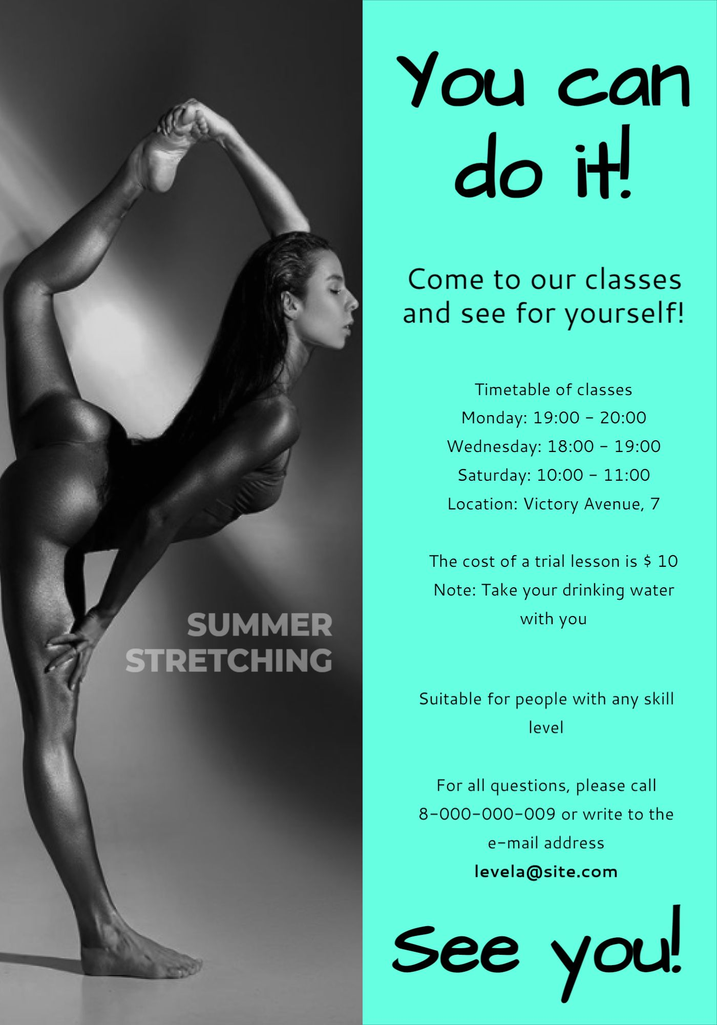 Stretching Flyer Tamplate (Second Page)