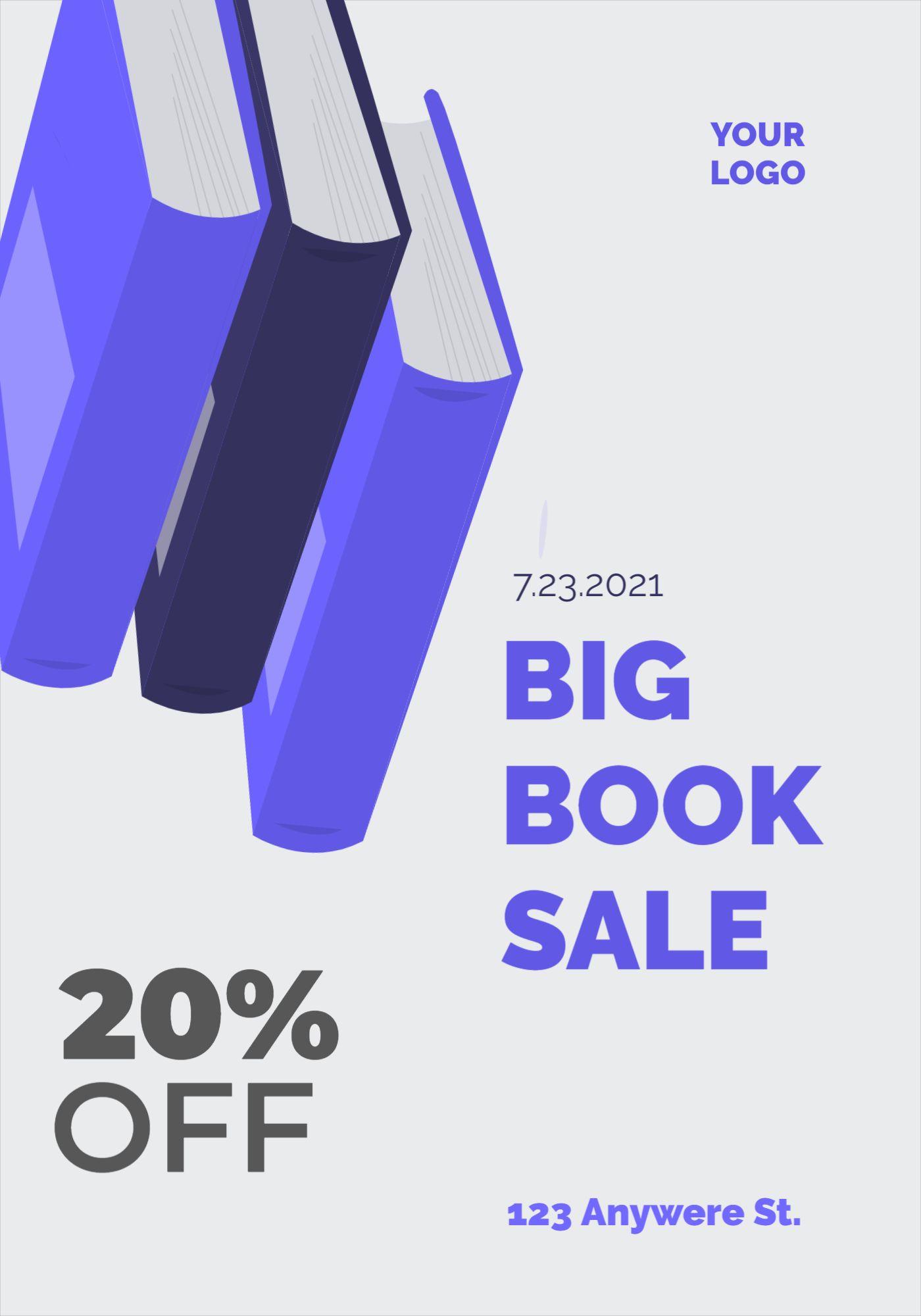 Book Sale Flyer Template