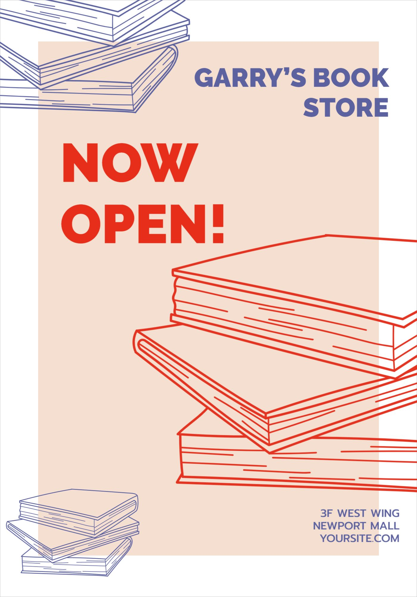 Book Store Opening Flyer Template